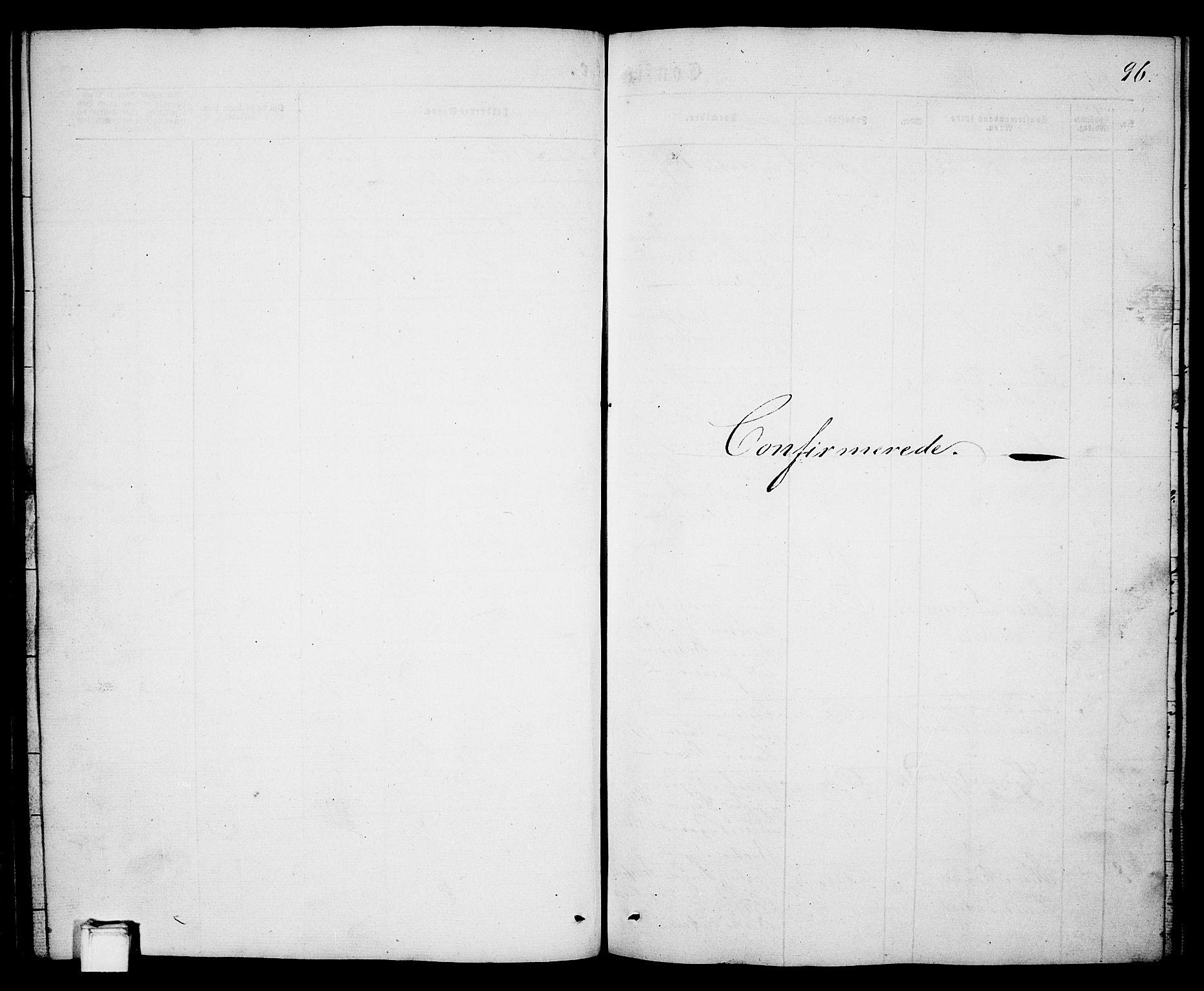 SAKO, Porsgrunn kirkebøker , G/Ga/L0002: Klokkerbok nr. I 2, 1847-1877, s. 96