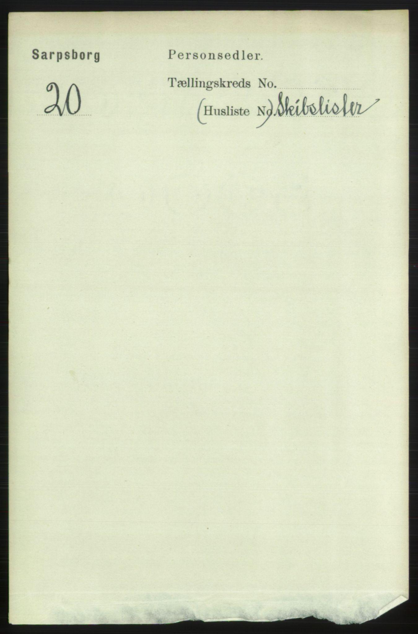 RA, Folketelling 1891 for 0102 Sarpsborg kjøpstad, 1891, s. 3679