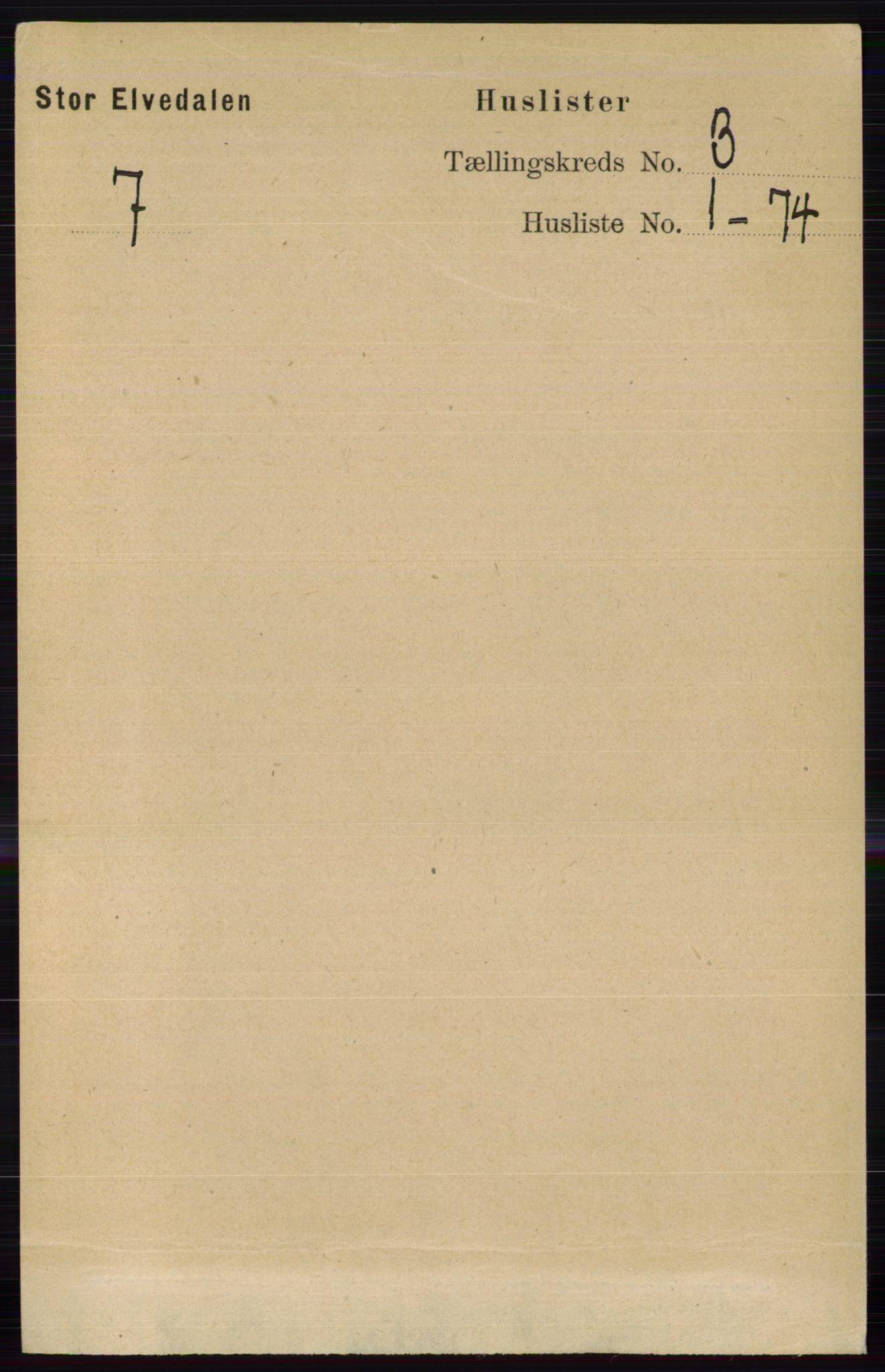 RA, Folketelling 1891 for 0430 Stor-Elvdal herred, 1891, s. 761