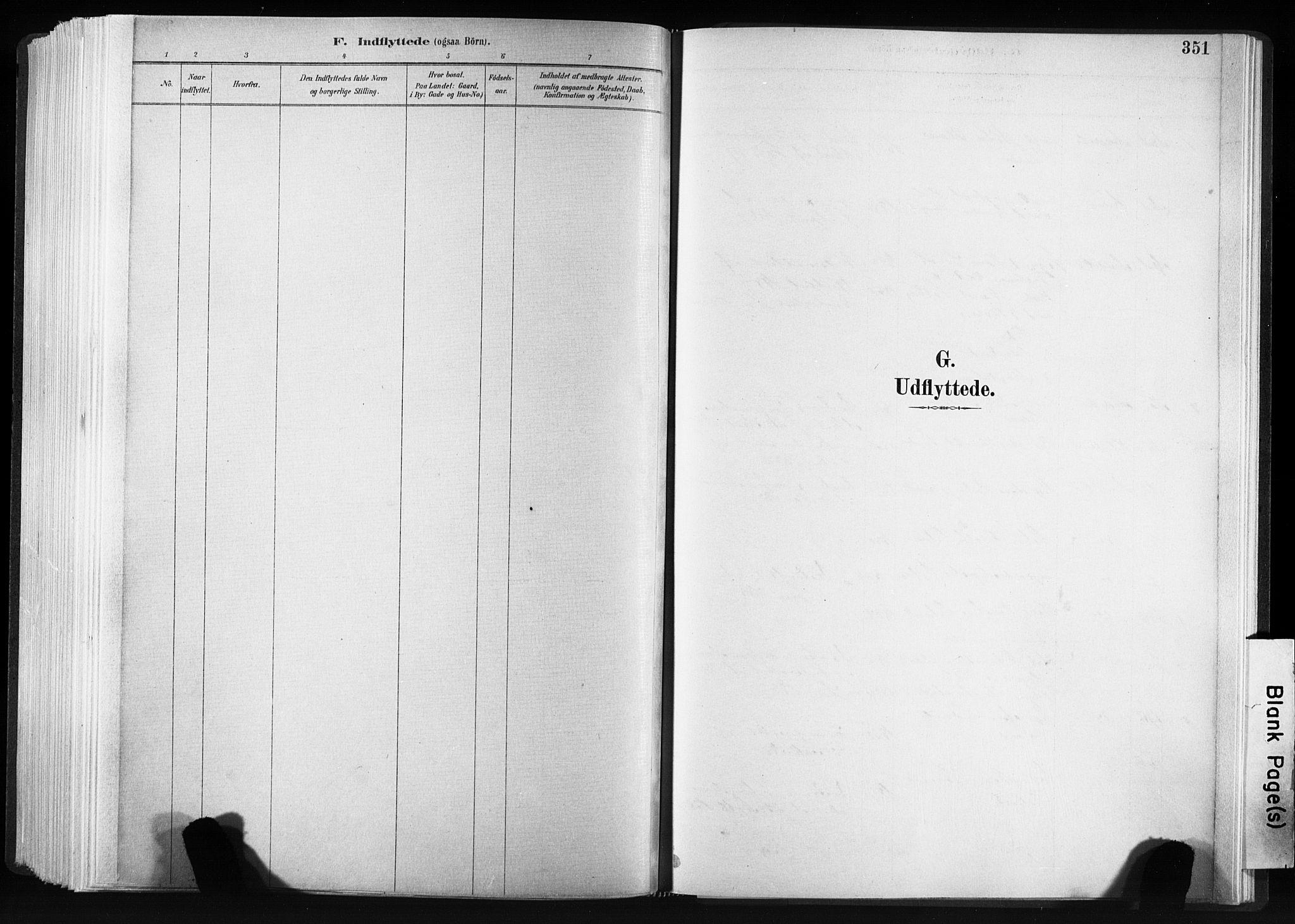 SAT, Ministerialprotokoller, klokkerbøker og fødselsregistre - Sør-Trøndelag, 606/L0300: Ministerialbok nr. 606A15, 1886-1893, s. 351