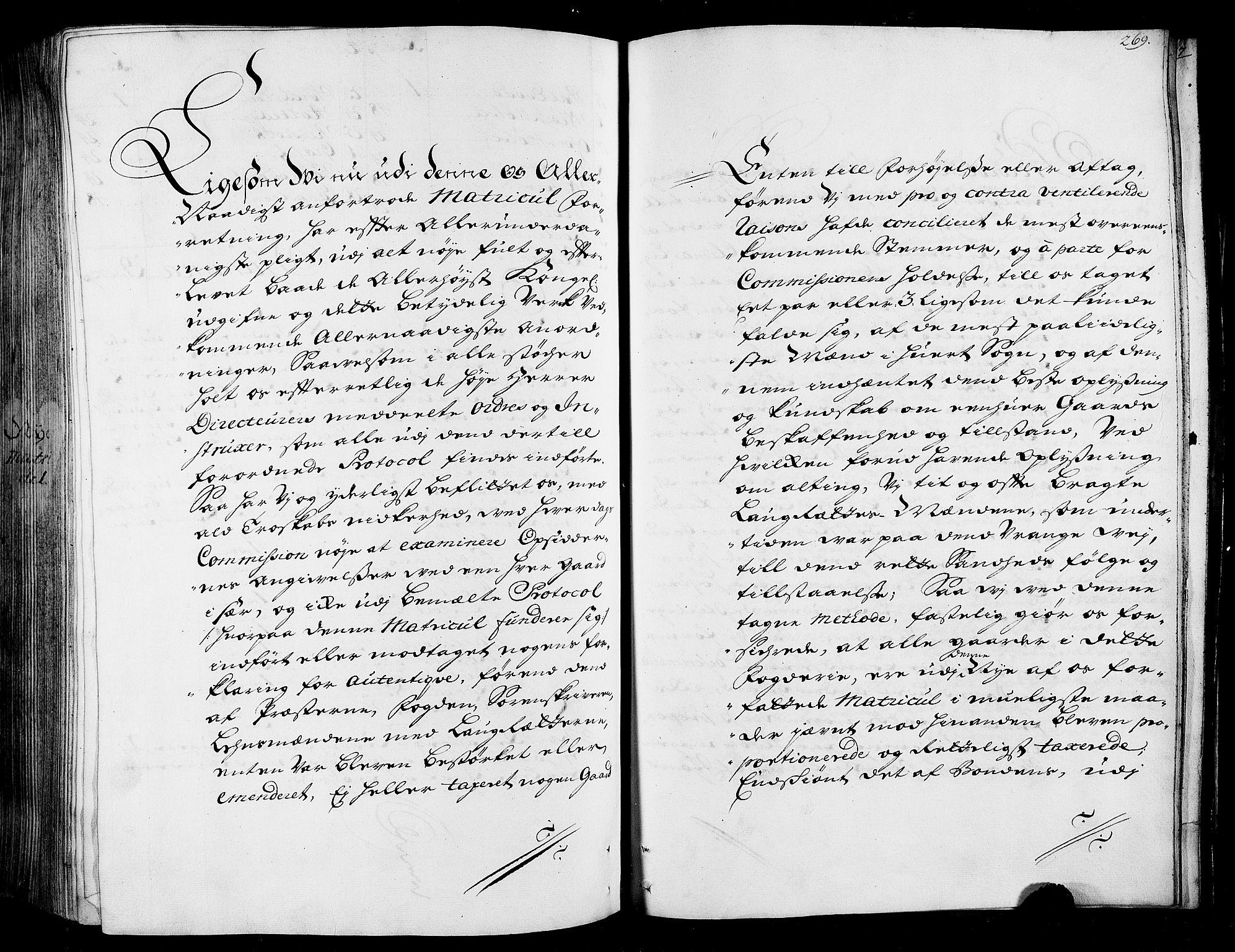 RA, Rentekammeret inntil 1814, Realistisk ordnet avdeling, N/Nb/Nbf/L0165: Stjørdal og Verdal matrikkelprotokoll, 1723, s. 268b-269a