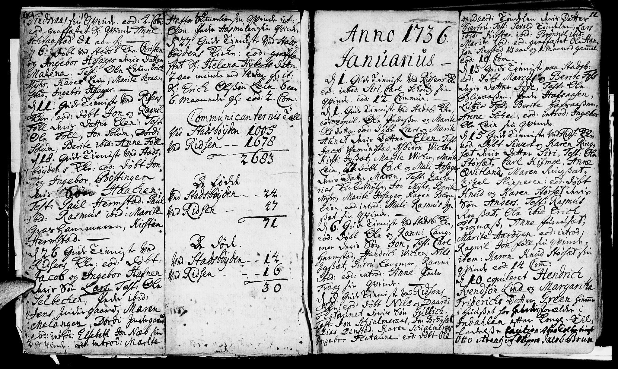 SAT, Ministerialprotokoller, klokkerbøker og fødselsregistre - Sør-Trøndelag, 646/L0604: Ministerialbok nr. 646A02, 1735-1750, s. 10-11