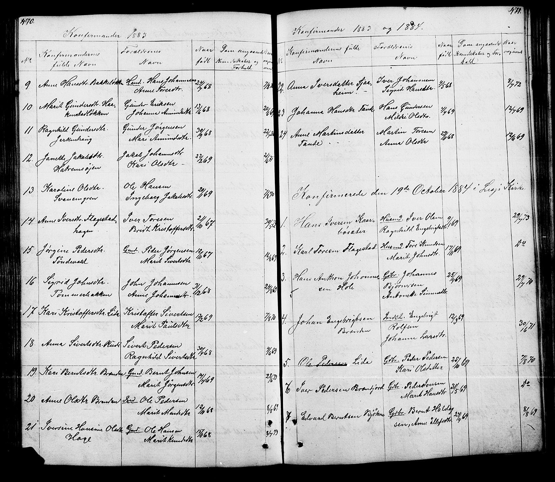 SAH, Lesja prestekontor, Klokkerbok nr. 5, 1850-1894, s. 470-471