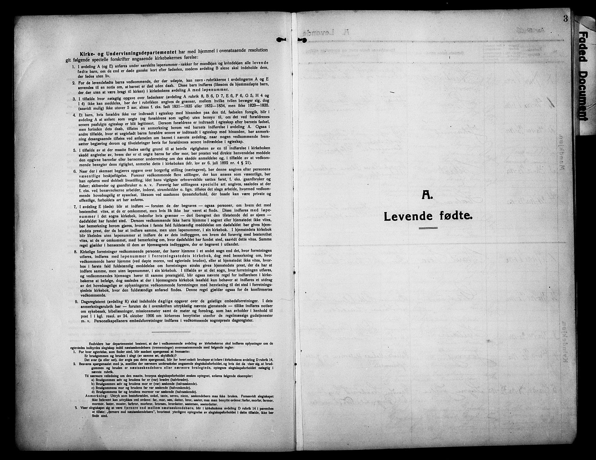 SAH, Sør-Fron prestekontor, H/Ha/Hab/L0005: Klokkerbok nr. 5, 1912-1930, s. 3