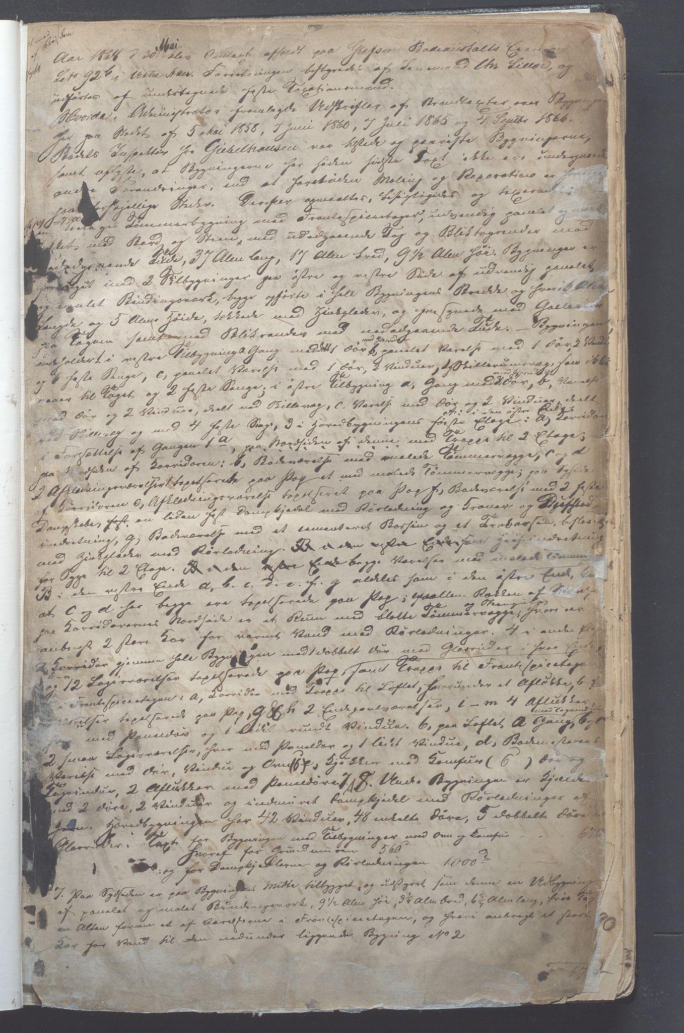 OBA, Lensmennene i Aker, F/Fa/L0005: Branntakstprotokoll, 1868-1877, s. 1a