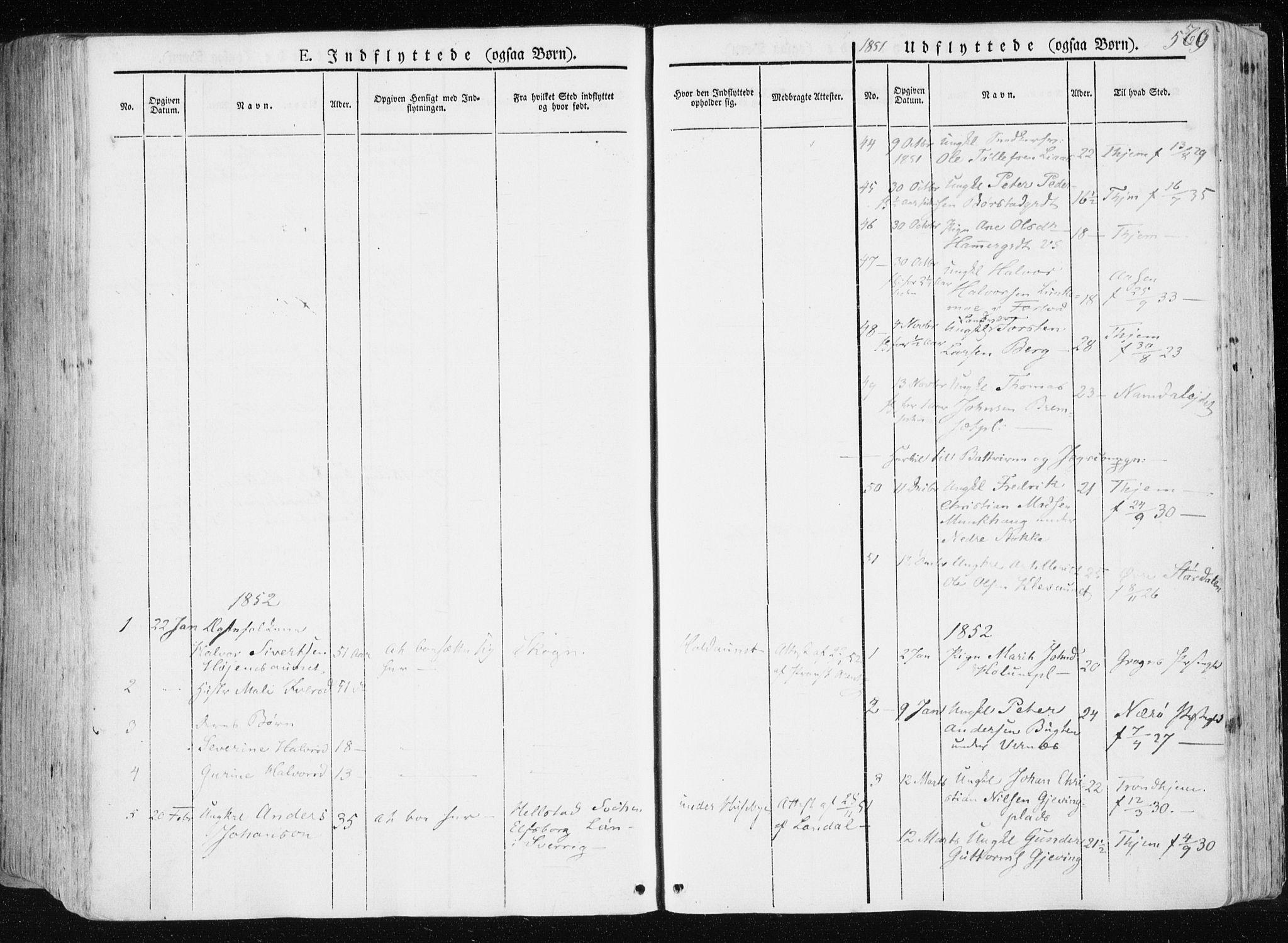 SAT, Ministerialprotokoller, klokkerbøker og fødselsregistre - Nord-Trøndelag, 709/L0074: Ministerialbok nr. 709A14, 1845-1858, s. 560