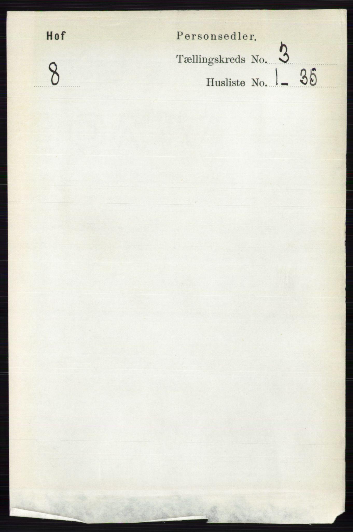 RA, Folketelling 1891 for 0424 Hof herred, 1891, s. 845