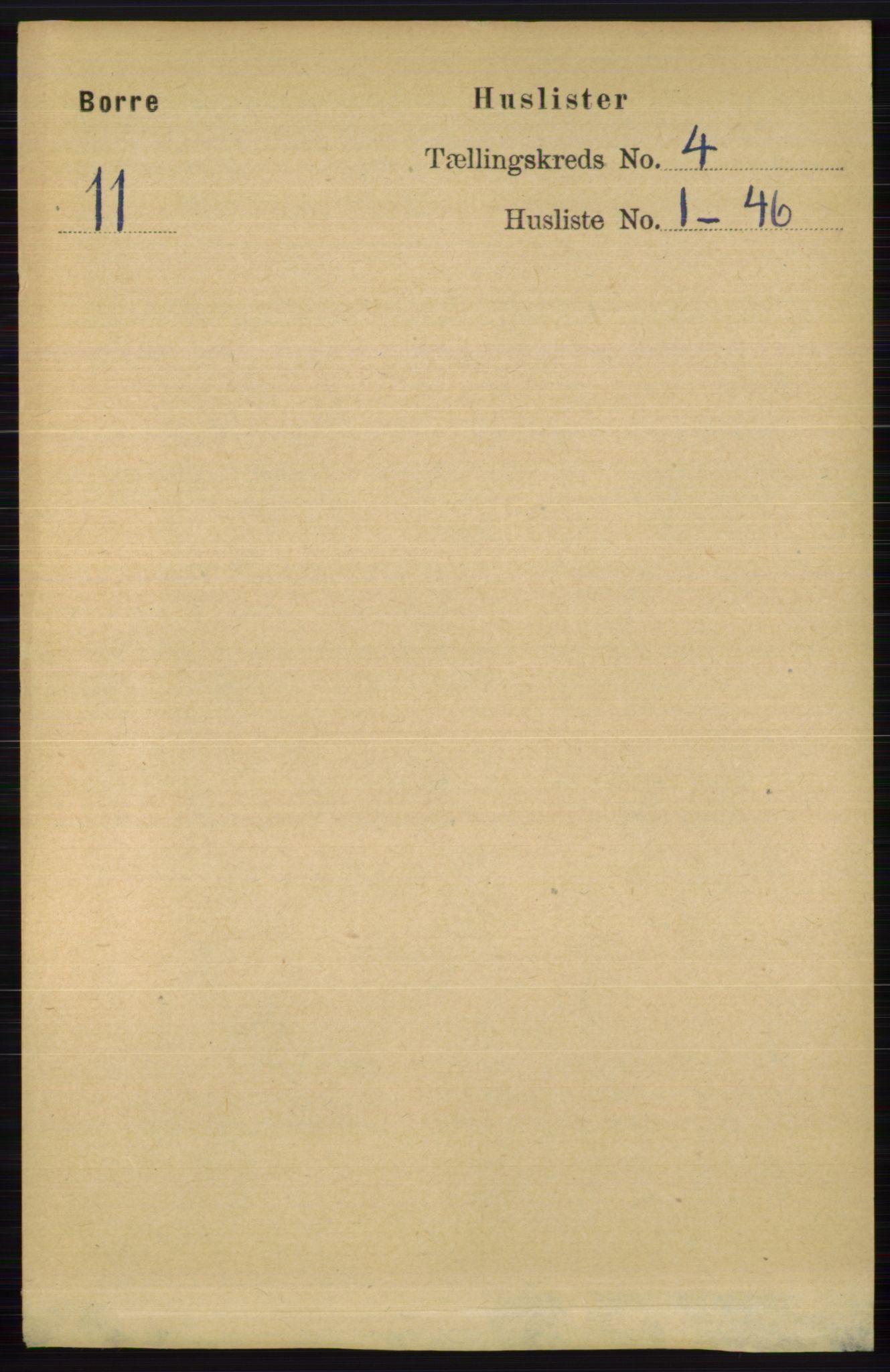 RA, Folketelling 1891 for 0717 Borre herred, 1891, s. 1617