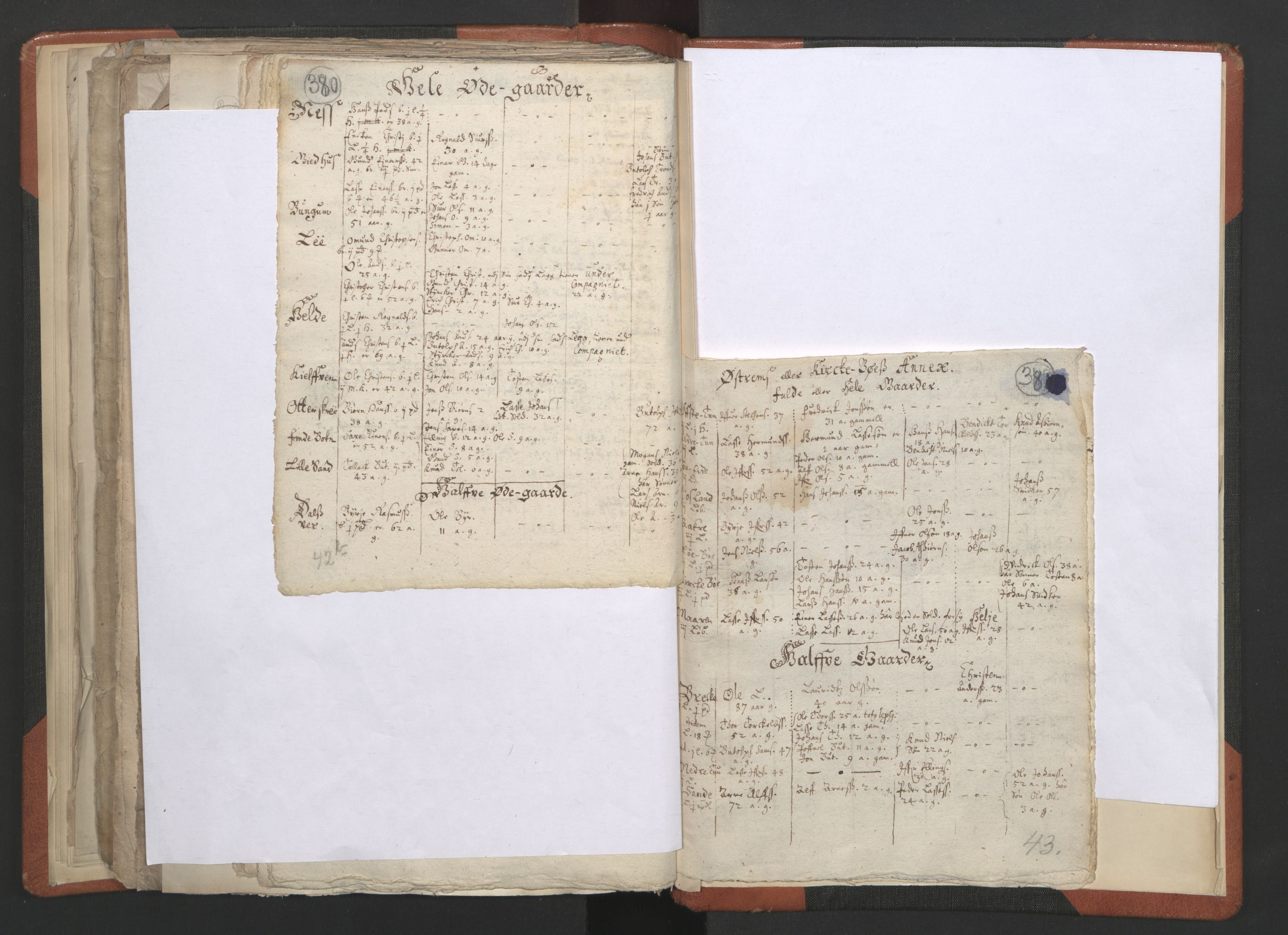 RA, Sogneprestenes manntall 1664-1666, nr. 23: Sogn prosti, 1664-1666, s. 380-381