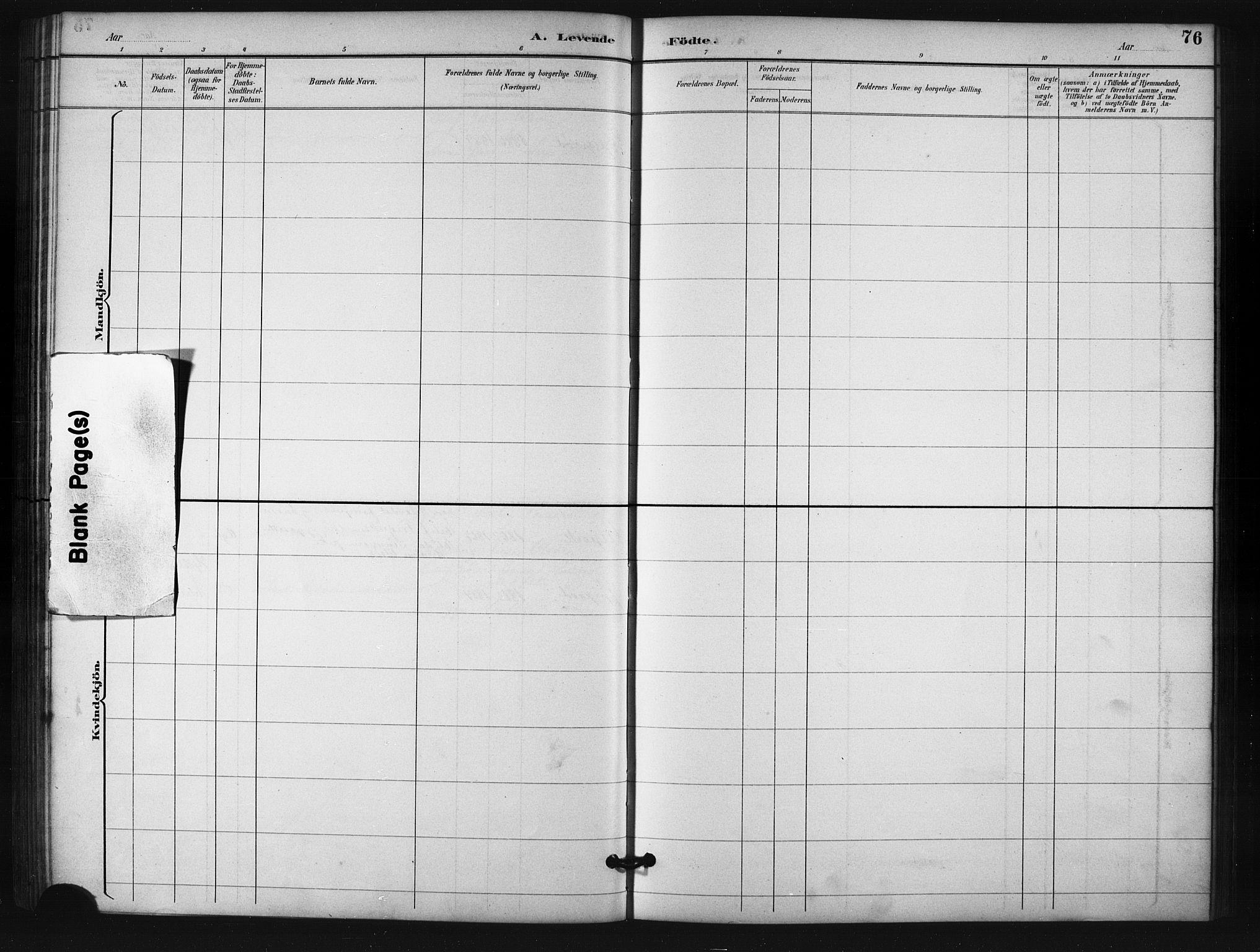 SATØ, Salangen sokneprestembete, H/Ha/L0001klokker: Klokkerbok nr. 1, 1893-1910, s. 76