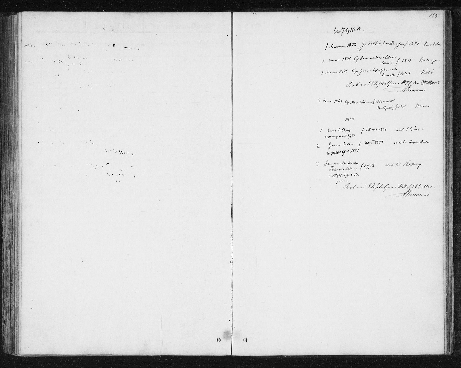 SAT, Ministerialprotokoller, klokkerbøker og fødselsregistre - Nord-Trøndelag, 788/L0696: Ministerialbok nr. 788A03, 1863-1877, s. 155