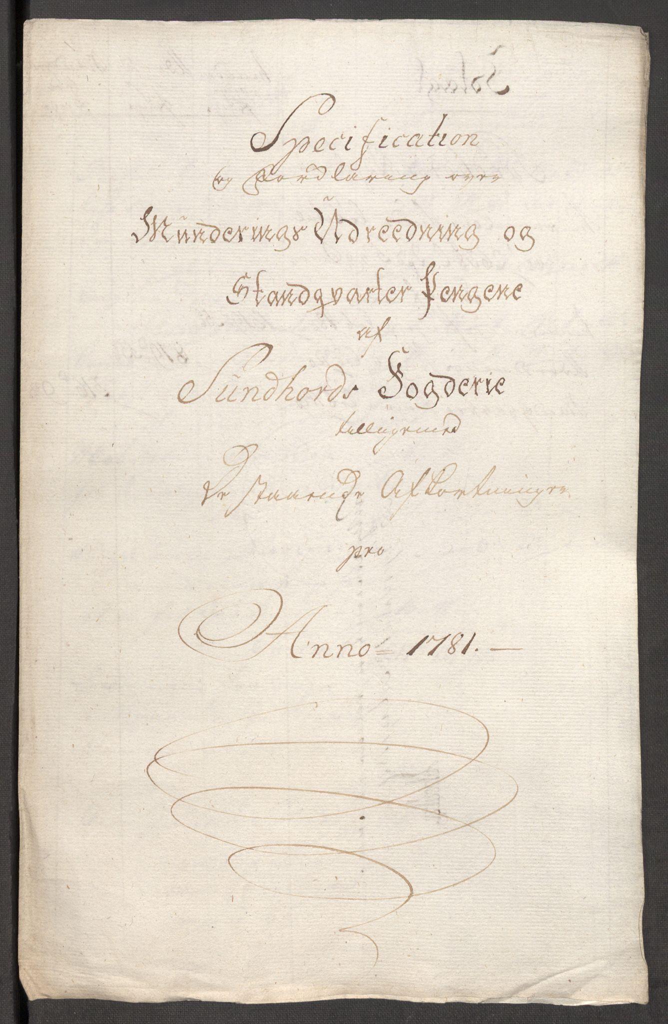 RA, Rentekammeret inntil 1814, Reviderte regnskaper, Fogderegnskap, R48/L3097: Fogderegnskap Sunnhordland og Hardanger, 1781, s. 54