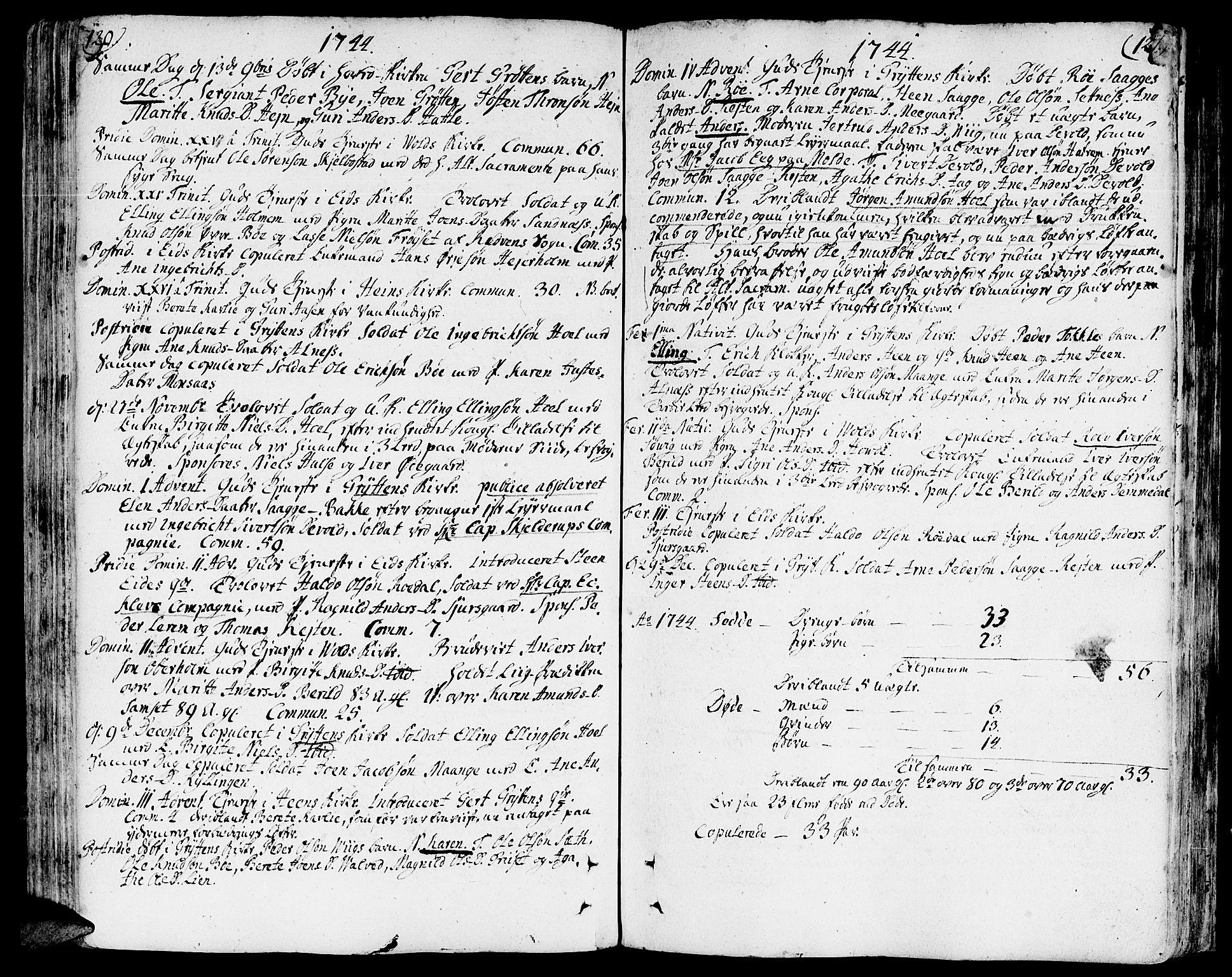 SAT, Ministerialprotokoller, klokkerbøker og fødselsregistre - Møre og Romsdal, 544/L0568: Ministerialbok nr. 544A01, 1725-1763, s. 120-121