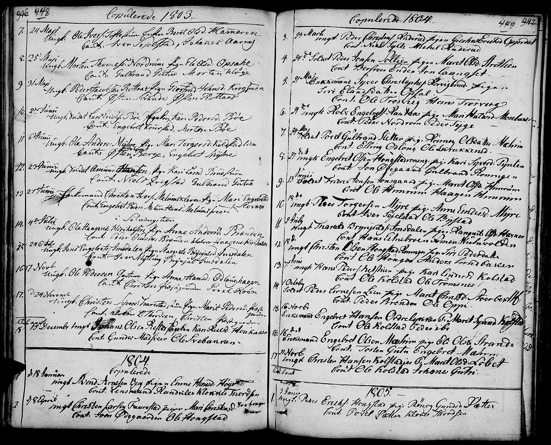 SAH, Ringebu prestekontor, Ministerialbok nr. 3, 1781-1820, s. 448-449
