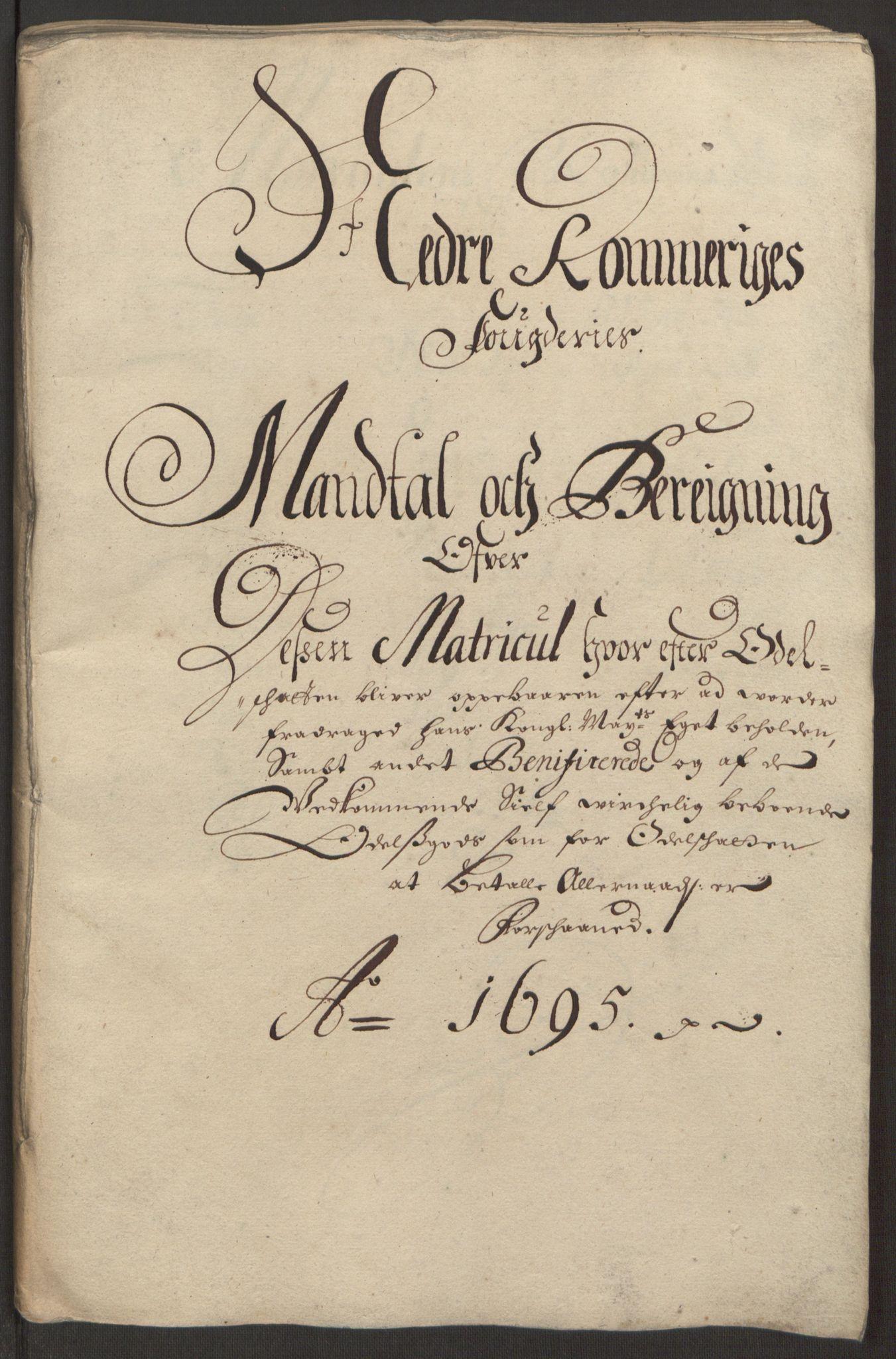 RA, Rentekammeret inntil 1814, Reviderte regnskaper, Fogderegnskap, R11/L0579: Fogderegnskap Nedre Romerike, 1694-1695, s. 342