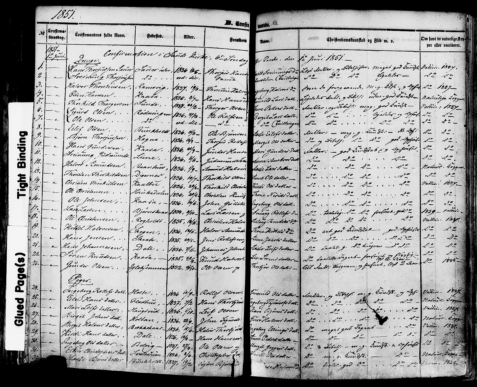 SAKO, Sauherad kirkebøker, F/Fa/L0007: Ministerialbok nr. I 7, 1851-1873, s. 96