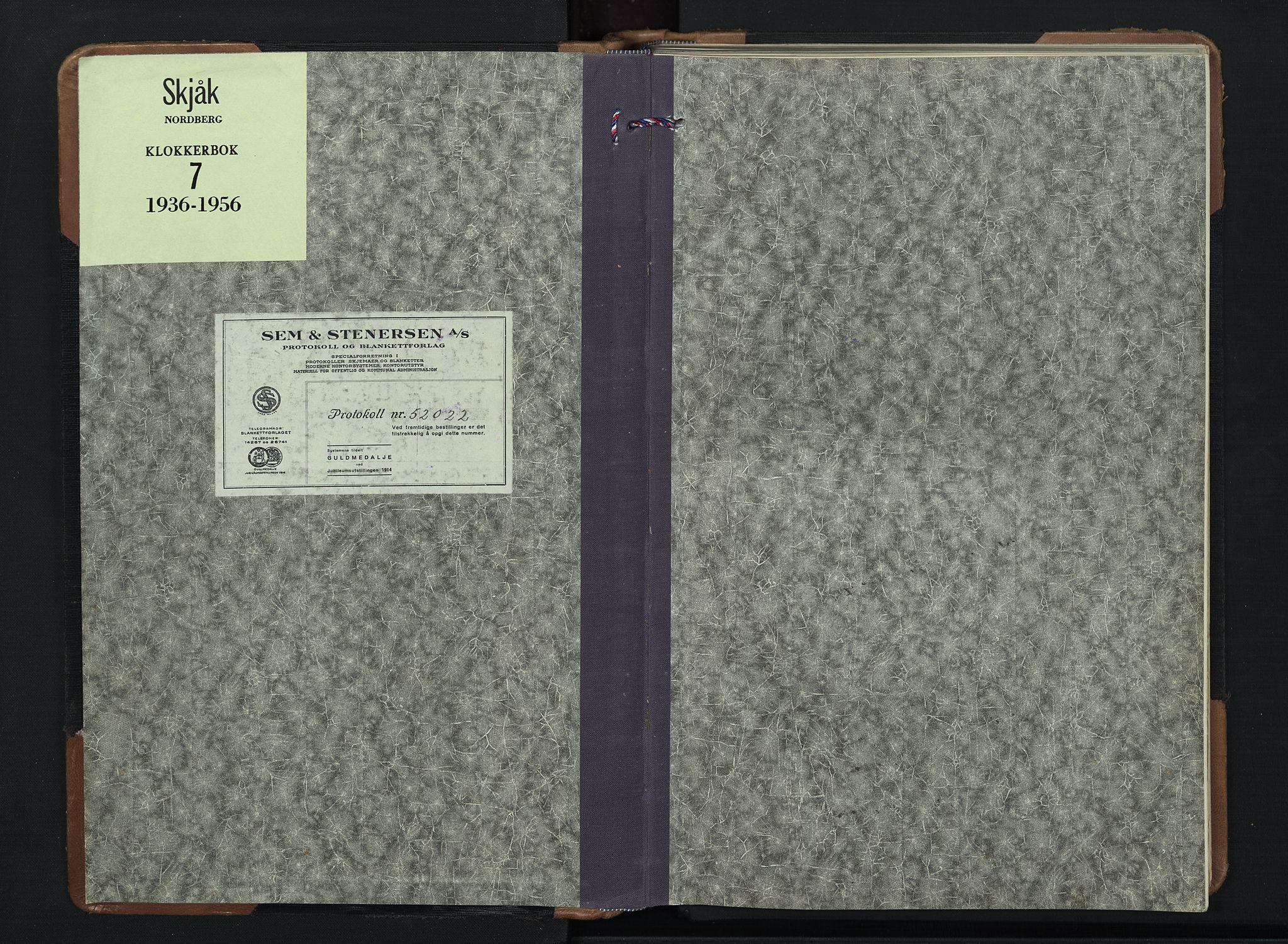 SAH, Skjåk prestekontor, Klokkerbok nr. 7, 1936-1958