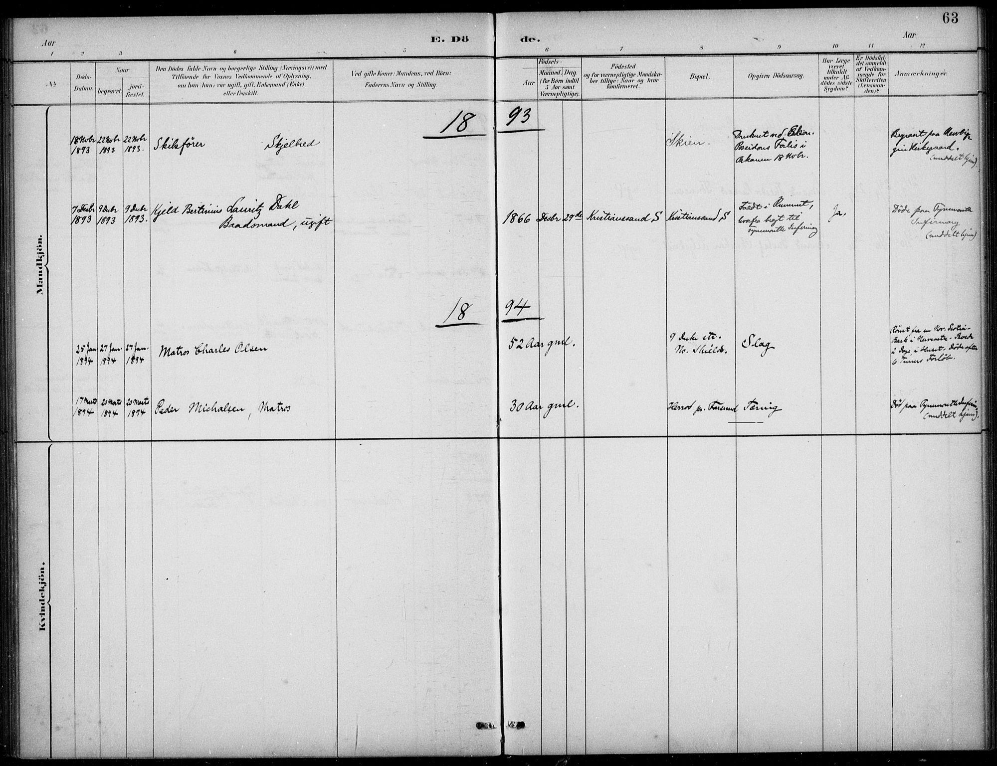 SAB, Den Norske Sjømannsmisjon i utlandet*, Ministerialbok nr. A 2, 1883-1936, s. 63