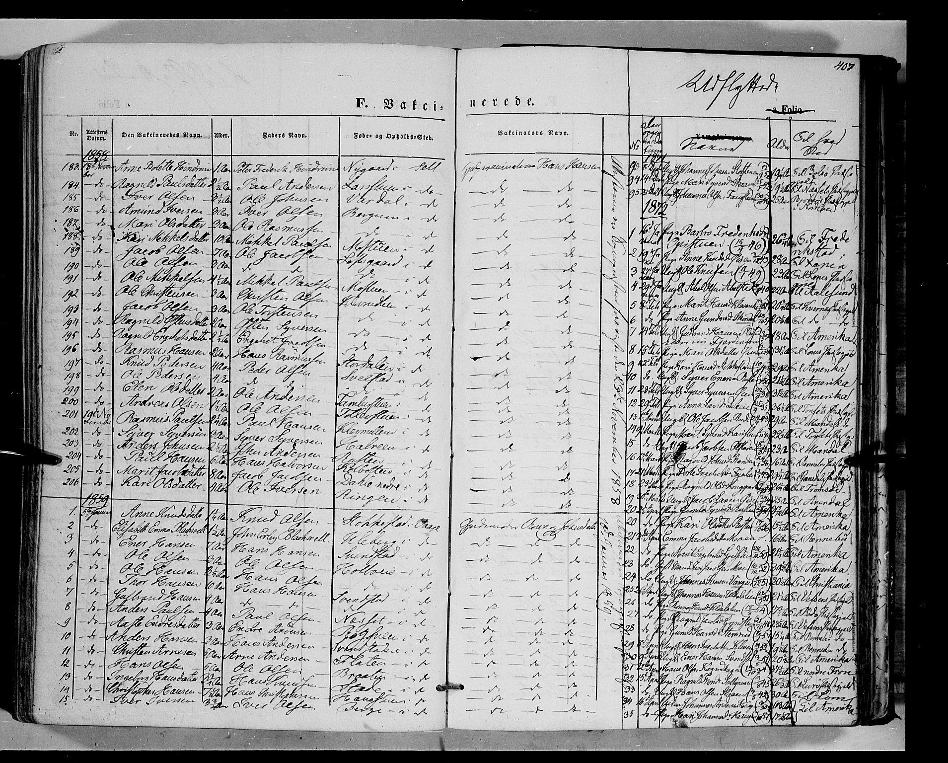 SAH, Vågå prestekontor, Ministerialbok nr. 6 /1, 1856-1872, s. 407