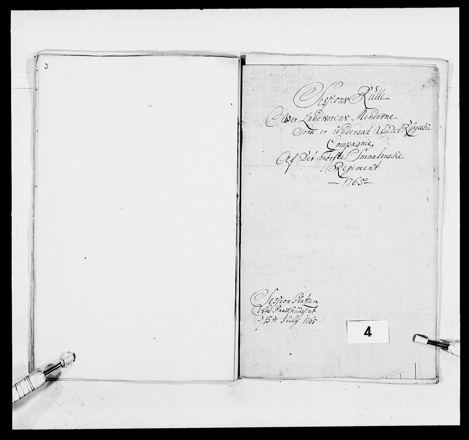 RA, Kommanderende general (KG I) med Det norske krigsdirektorium, E/Ea/L0496: 1. Smålenske regiment, 1765-1767, s. 31