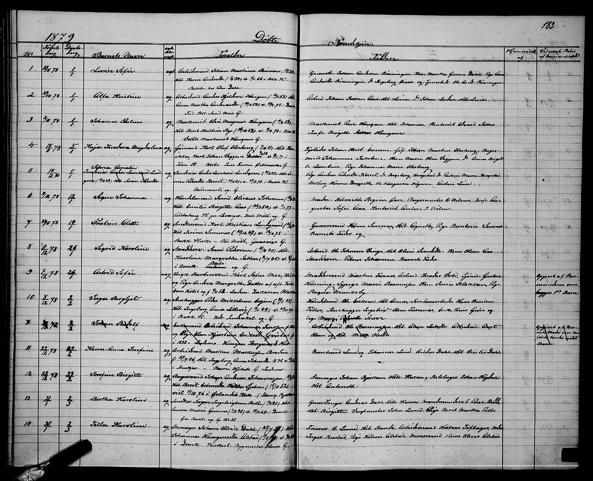 SAT, Ministerialprotokoller, klokkerbøker og fødselsregistre - Sør-Trøndelag, 604/L0220: Klokkerbok nr. 604C03, 1870-1885, s. 183
