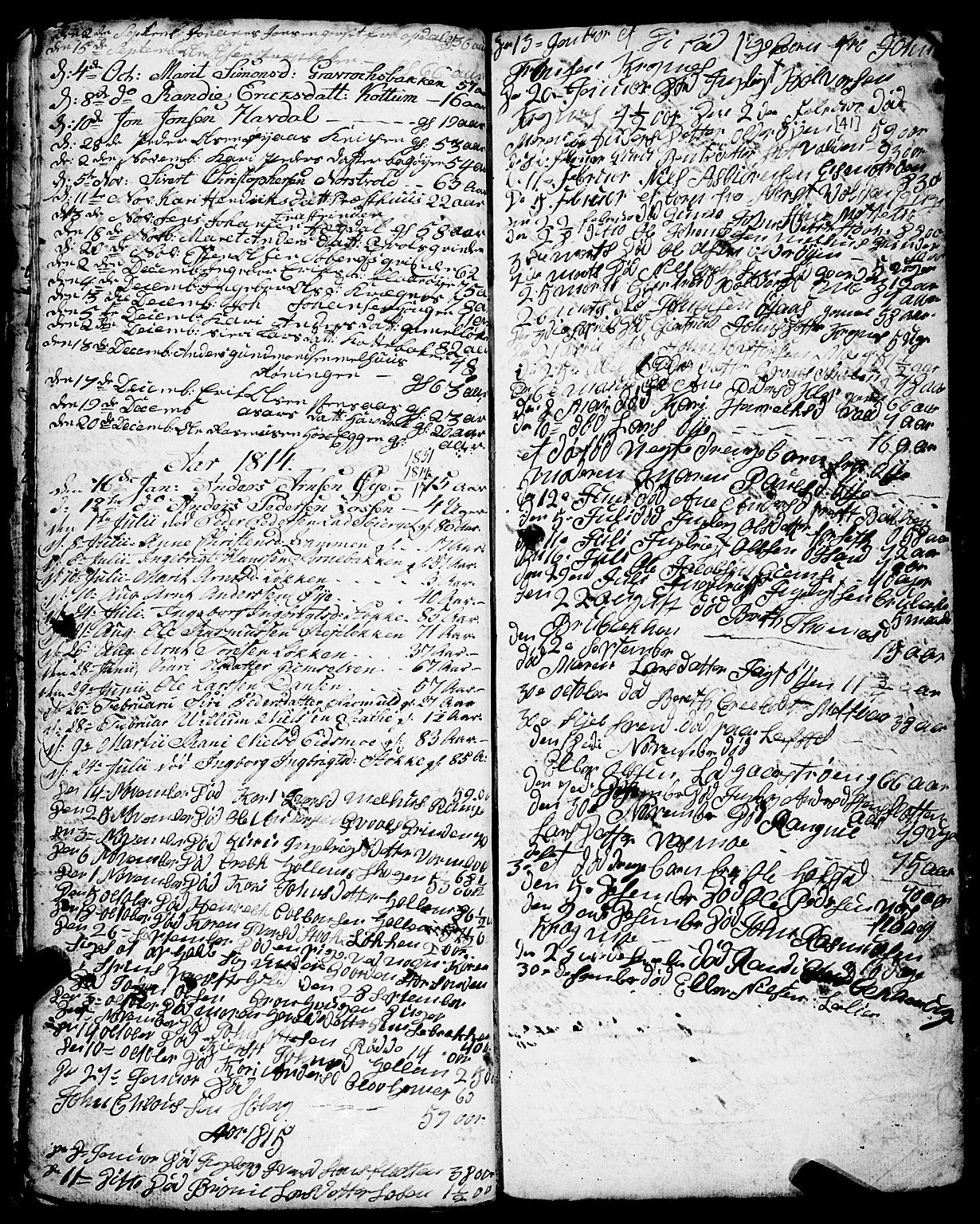 SAT, Ministerialprotokoller, klokkerbøker og fødselsregistre - Sør-Trøndelag, 691/L1091: Klokkerbok nr. 691C02, 1802-1815, s. 41