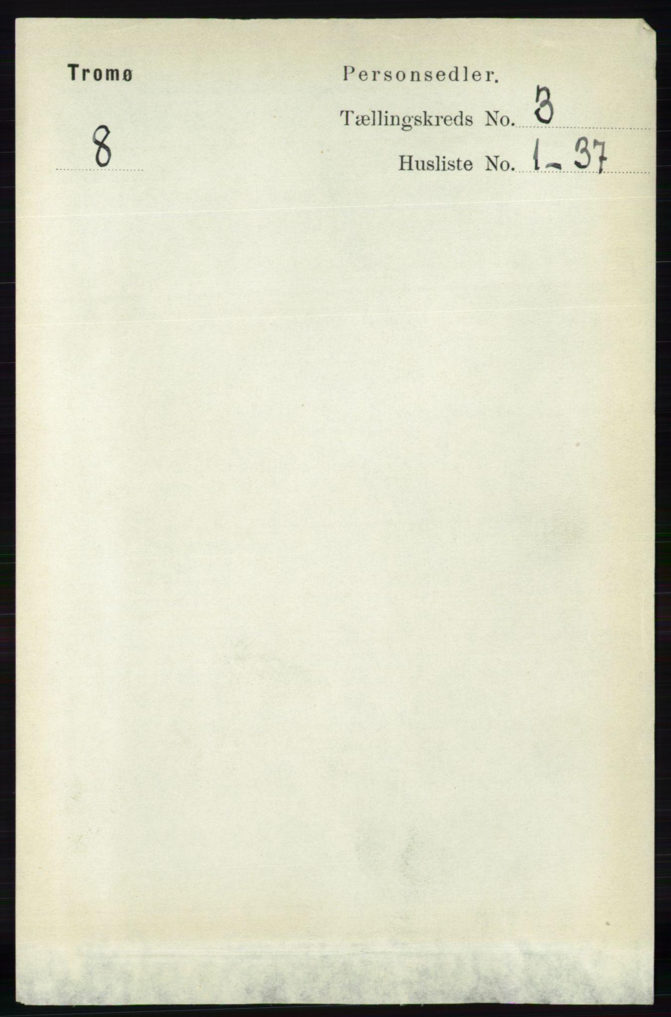 RA, Folketelling 1891 for 0921 Tromøy herred, 1891, s. 958