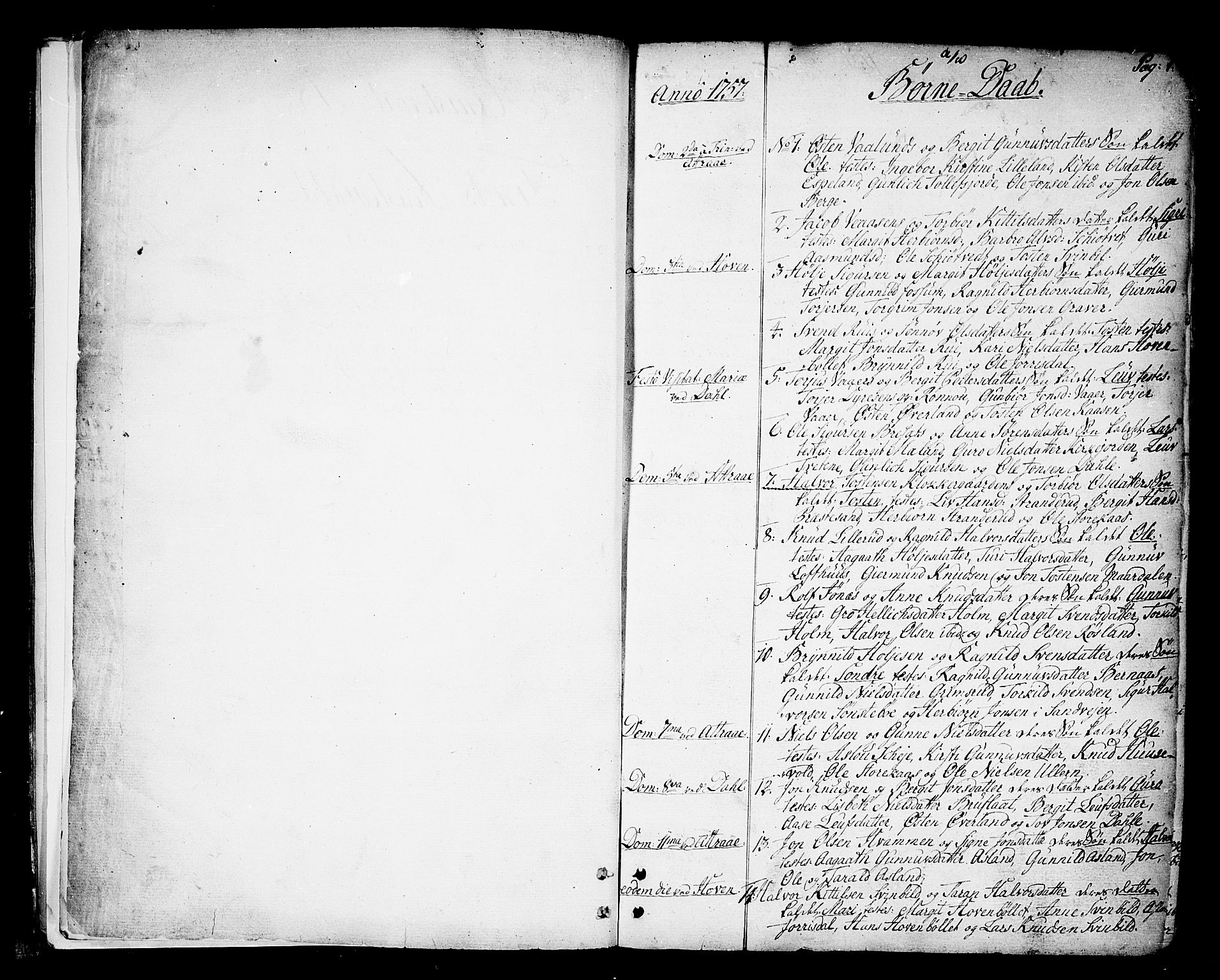 SAKO, Tinn kirkebøker, F/Fa/L0002: Ministerialbok nr. I 2, 1757-1810, s. 0-1