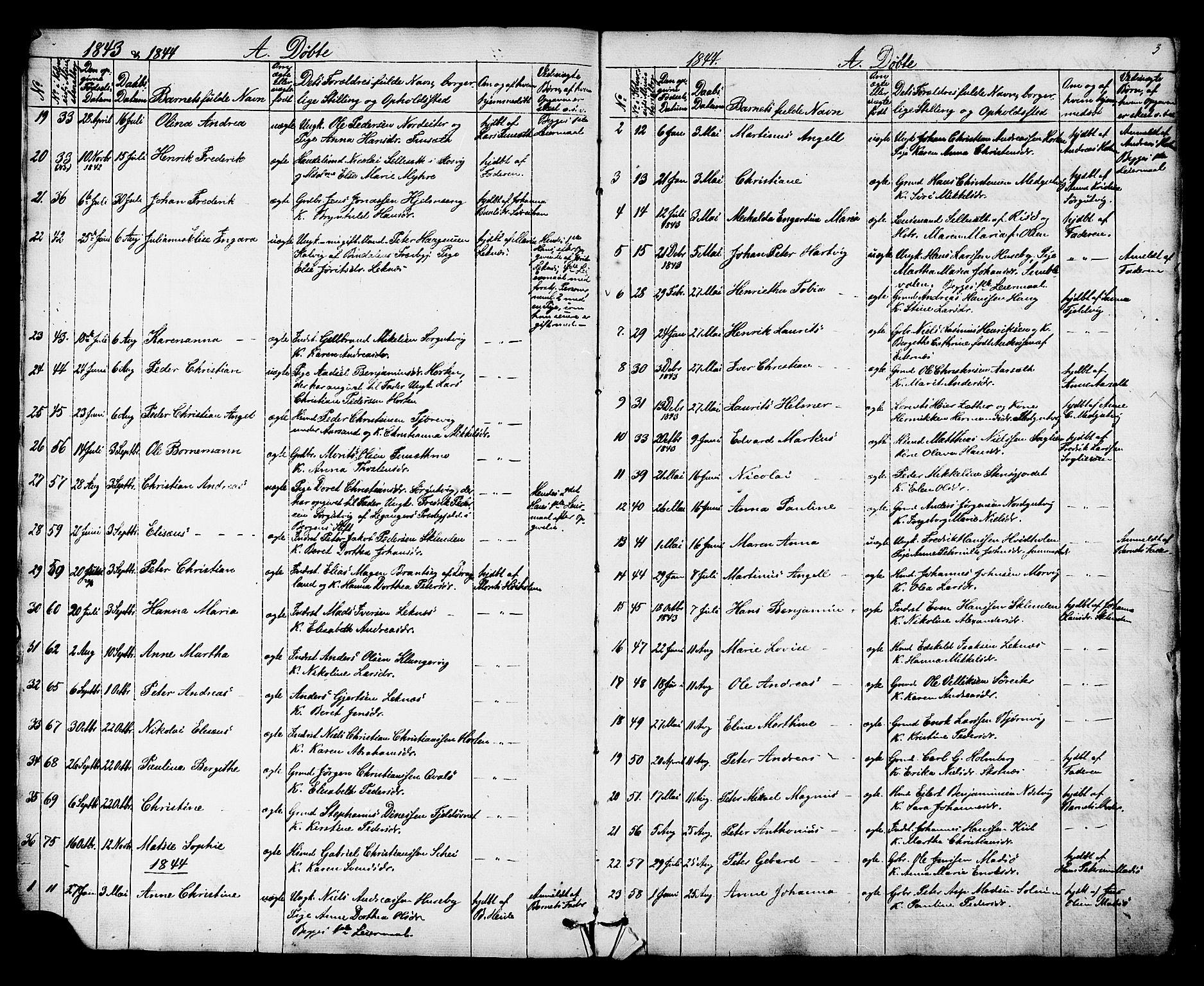 SAT, Ministerialprotokoller, klokkerbøker og fødselsregistre - Nord-Trøndelag, 788/L0695: Ministerialbok nr. 788A02, 1843-1862, s. 3