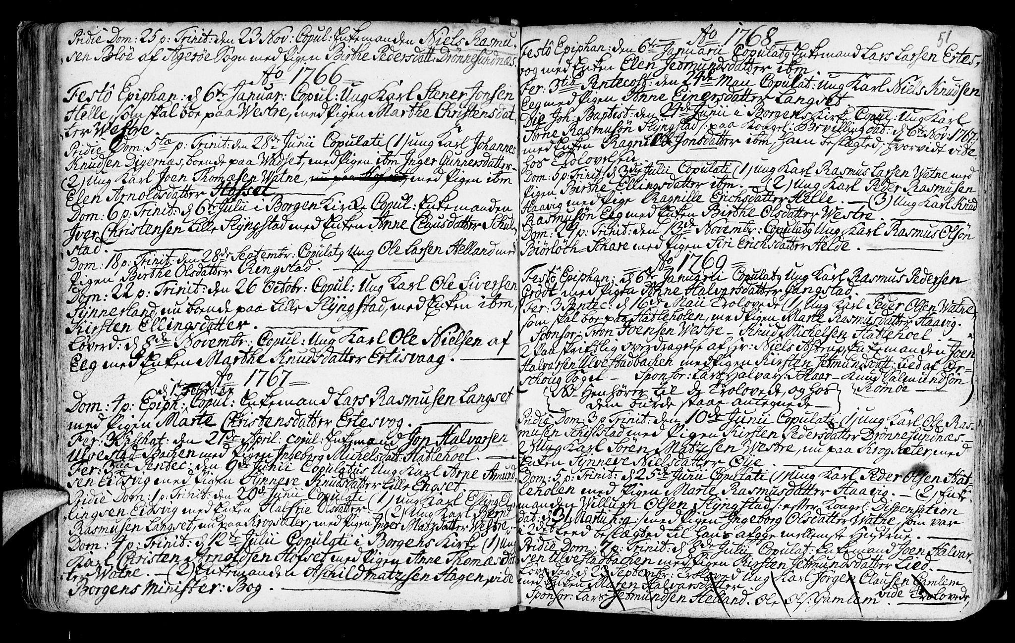 SAT, Ministerialprotokoller, klokkerbøker og fødselsregistre - Møre og Romsdal, 525/L0371: Ministerialbok nr. 525A01, 1699-1777, s. 51