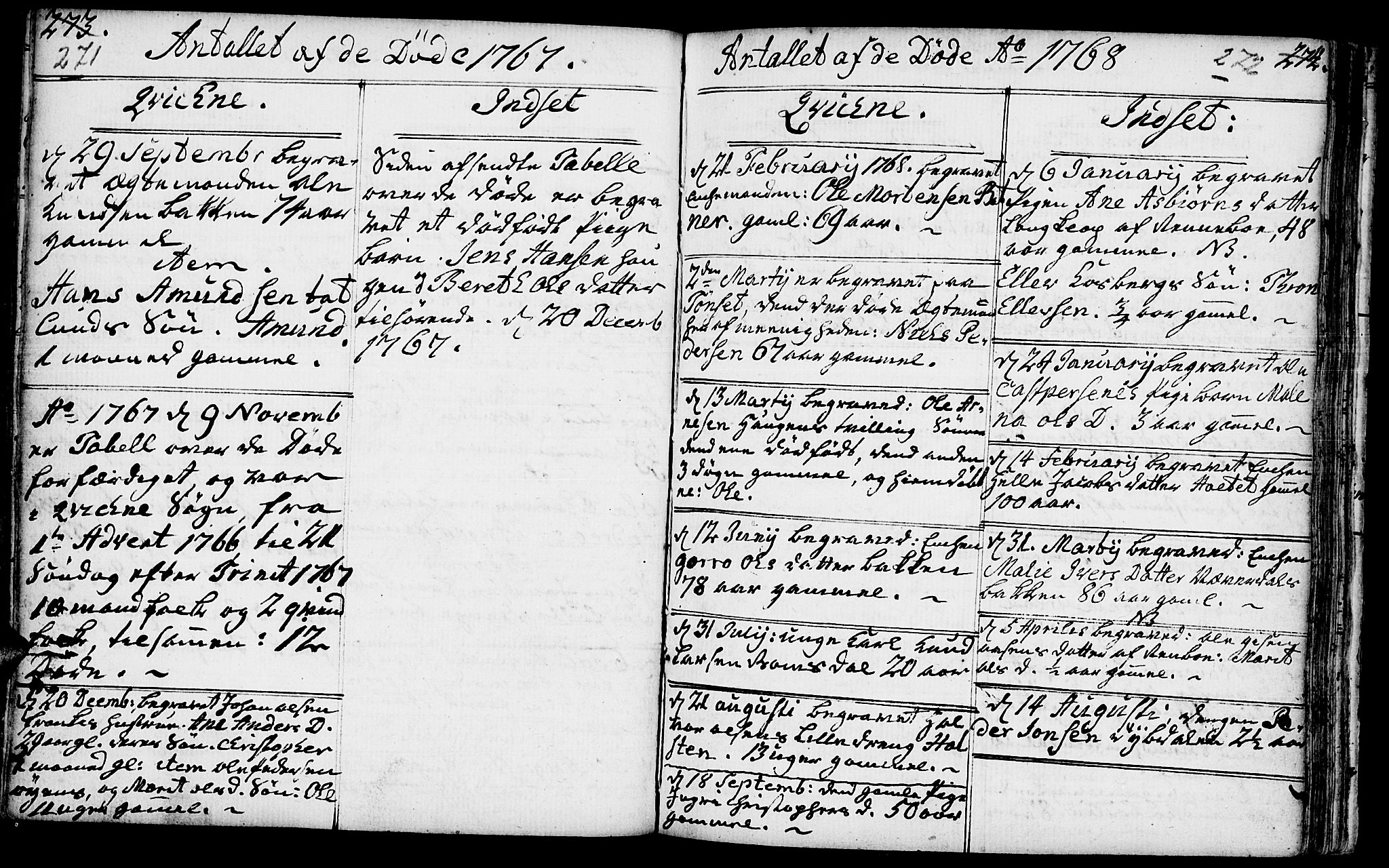 SAH, Kvikne prestekontor, Ministerialbok nr. 2, 1764-1784, s. 271-272