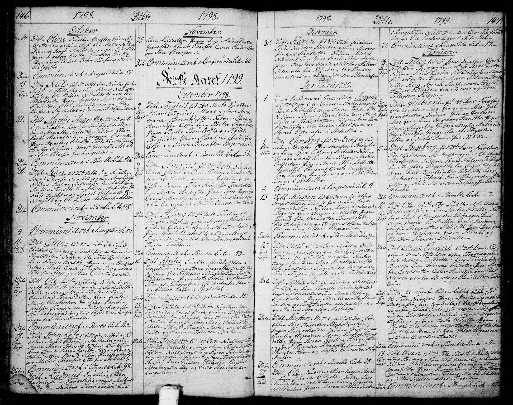 SAKO, Bamble kirkebøker, F/Fa/L0002: Ministerialbok nr. I 2, 1775-1814, s. 146-147