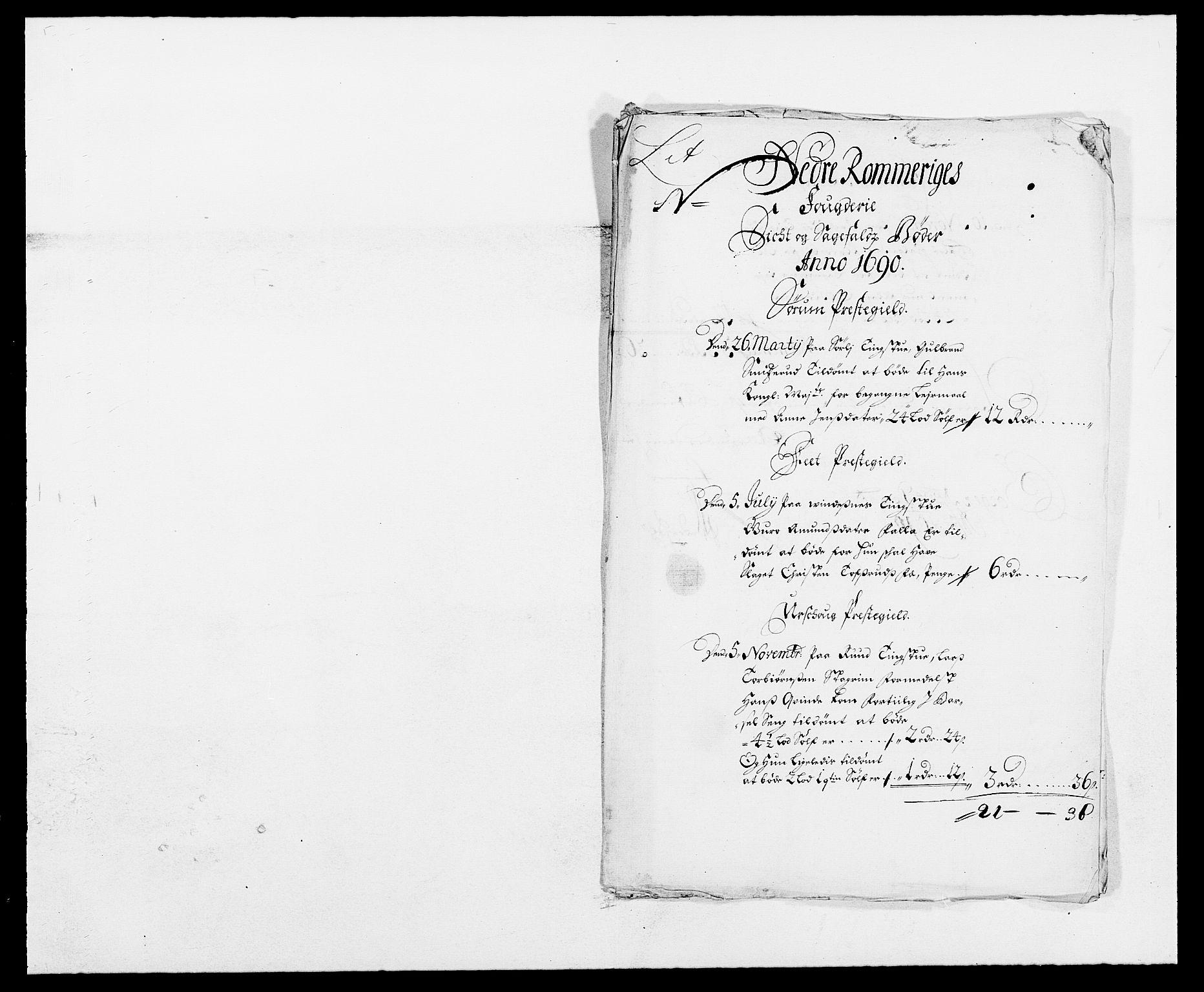 RA, Rentekammeret inntil 1814, Reviderte regnskaper, Fogderegnskap, R11/L0574: Fogderegnskap Nedre Romerike, 1689-1690, s. 256