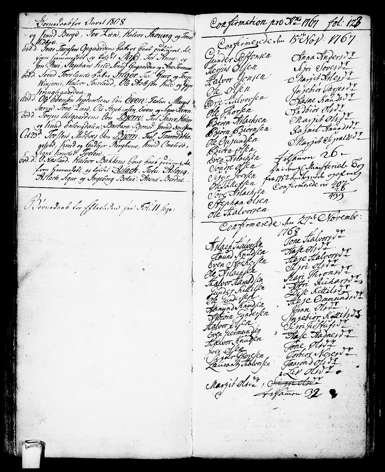 SAKO, Vinje kirkebøker, F/Fa/L0002: Ministerialbok nr. I 2, 1767-1814, s. 123