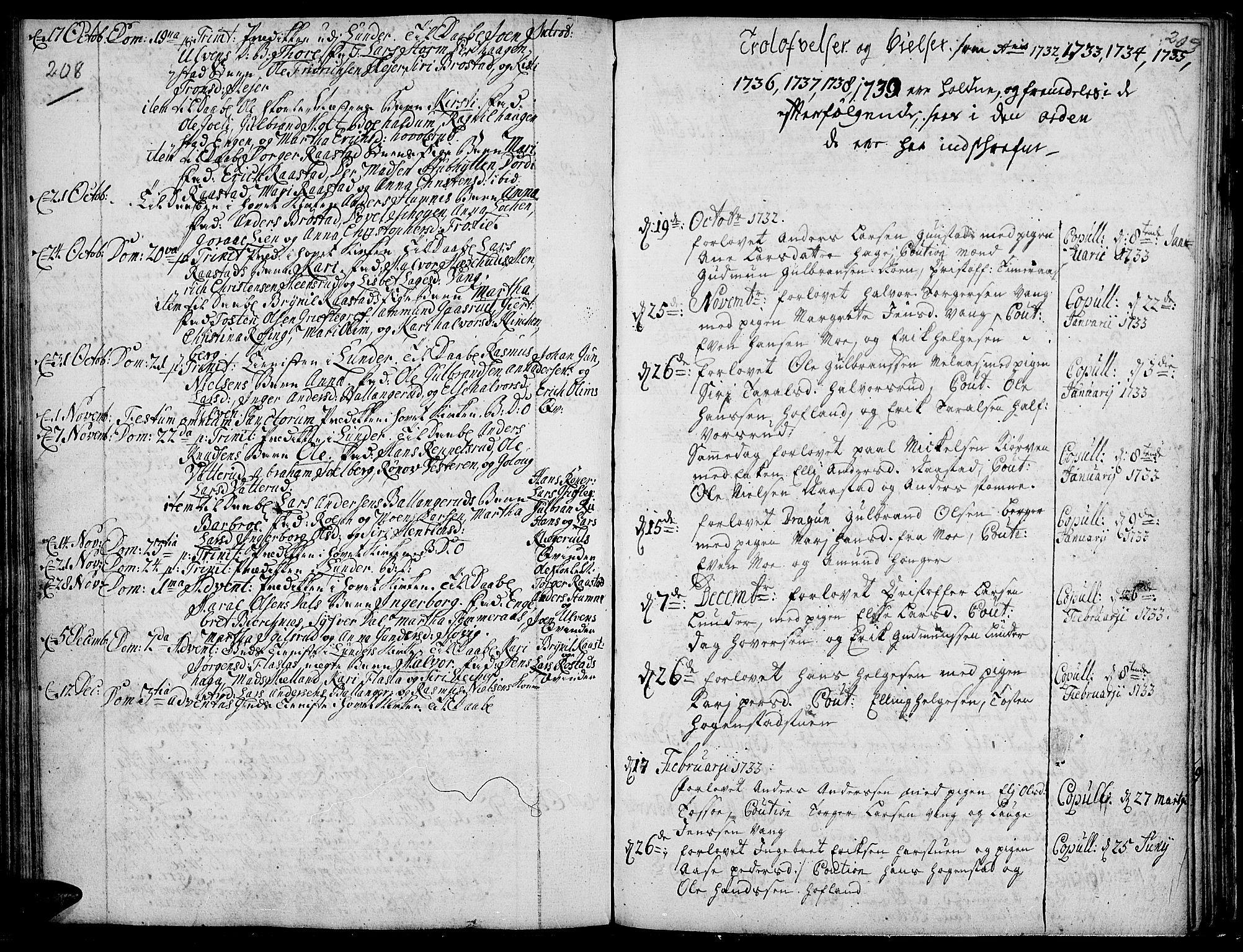 SAH, Jevnaker prestekontor, Ministerialbok nr. 2, 1725-1751, s. 208-209