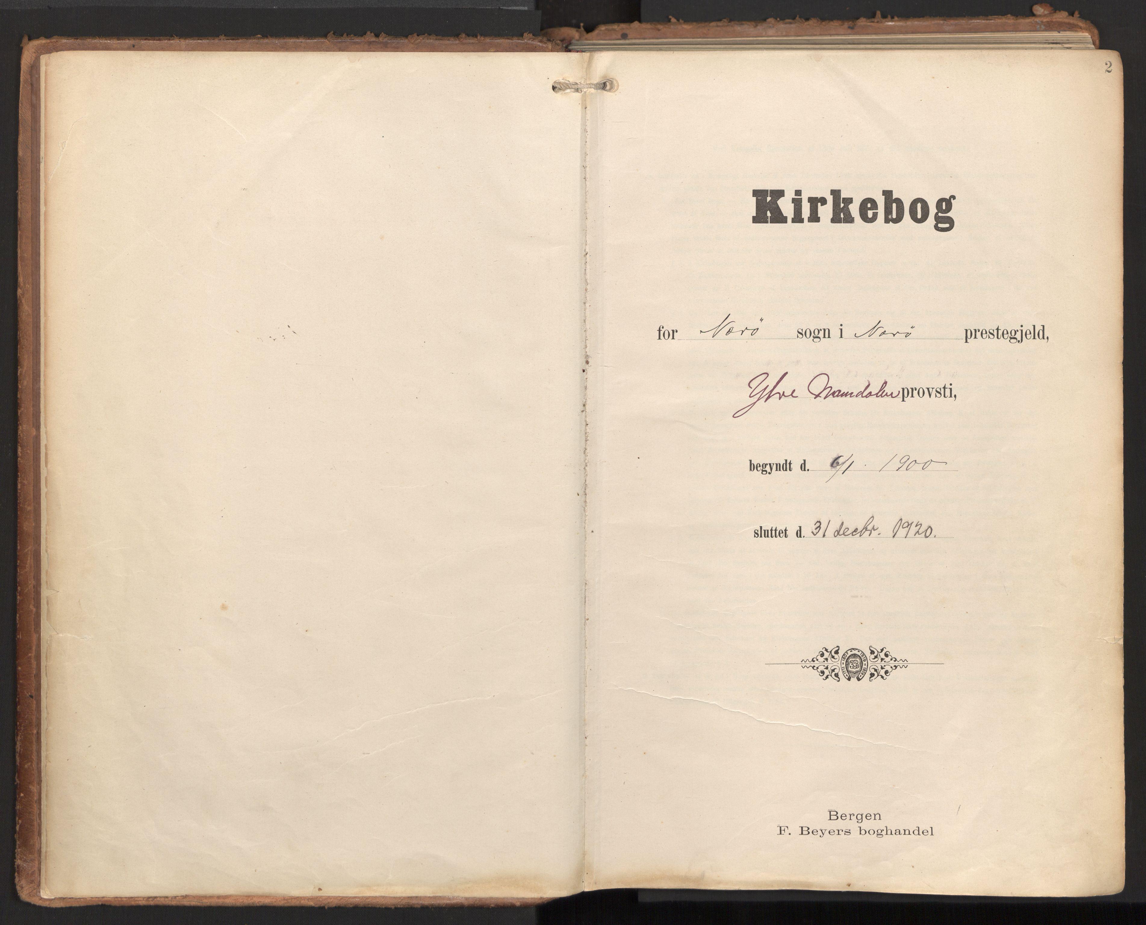 SAT, Ministerialprotokoller, klokkerbøker og fødselsregistre - Nord-Trøndelag, 784/L0677: Ministerialbok nr. 784A12, 1900-1920, s. 2