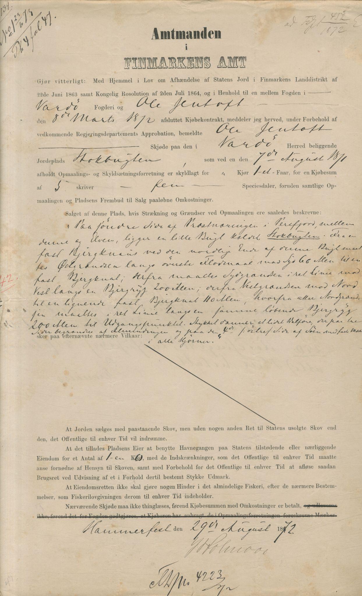 VAMU, Brodtkorb handel A/S, Q/Qb/L0003: Faste eiendommer i Vardø Herred, 1862-1939, s. 223