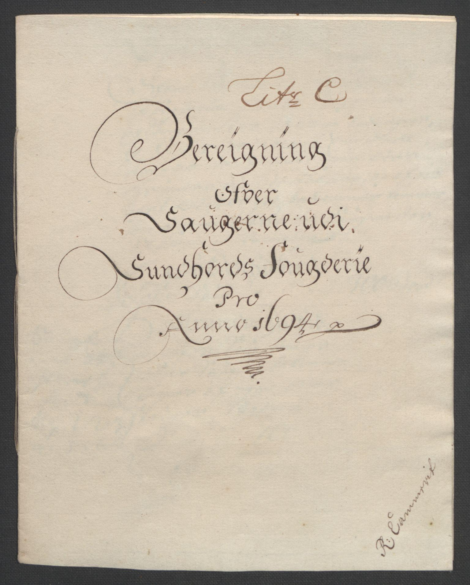 RA, Rentekammeret inntil 1814, Reviderte regnskaper, Fogderegnskap, R48/L2975: Fogderegnskap Sunnhordland og Hardanger, 1694, s. 84