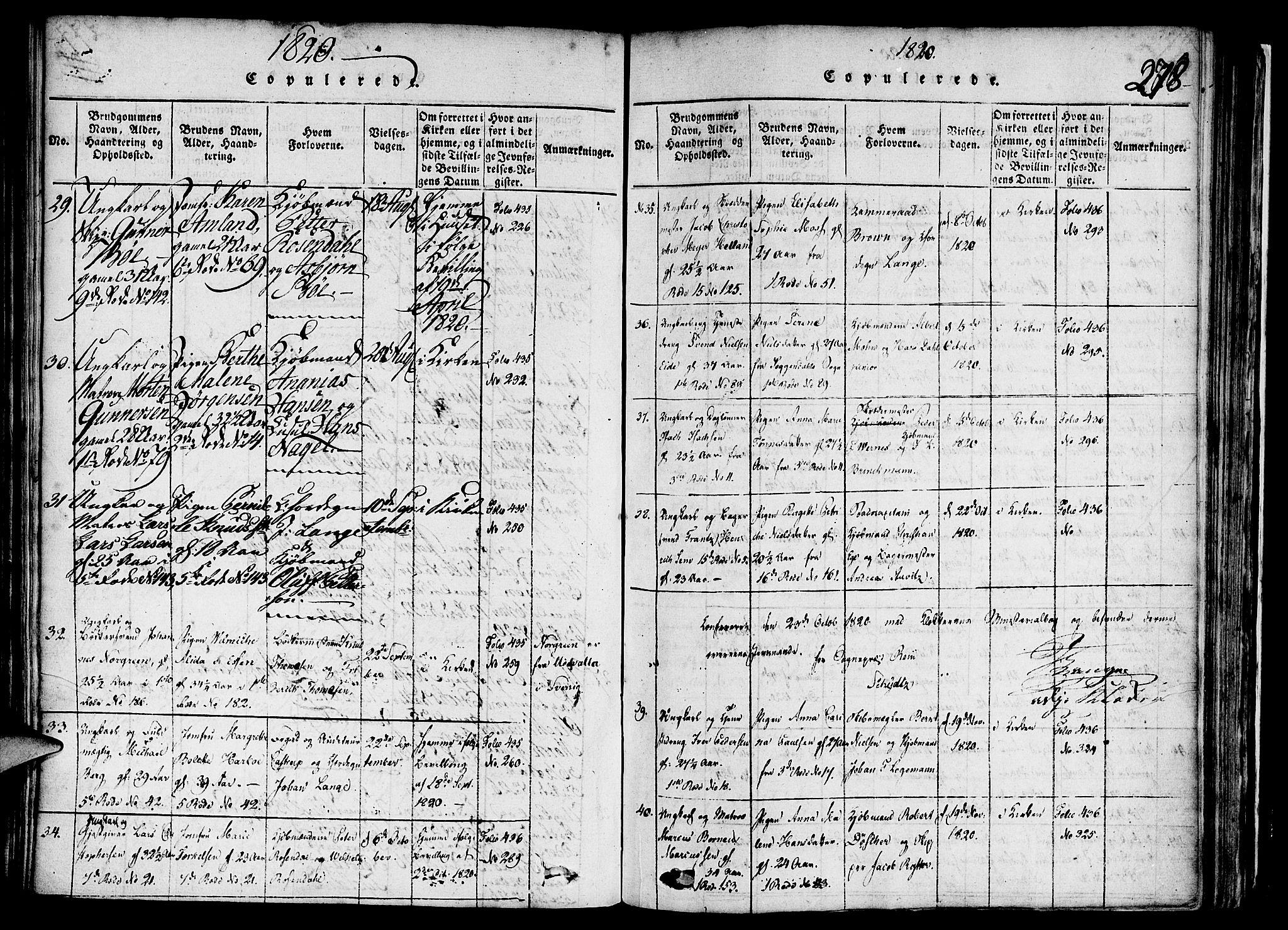 SAB, Nykirken Sokneprestembete, H/Haa: Ministerialbok nr. A 11, 1816-1821, s. 278