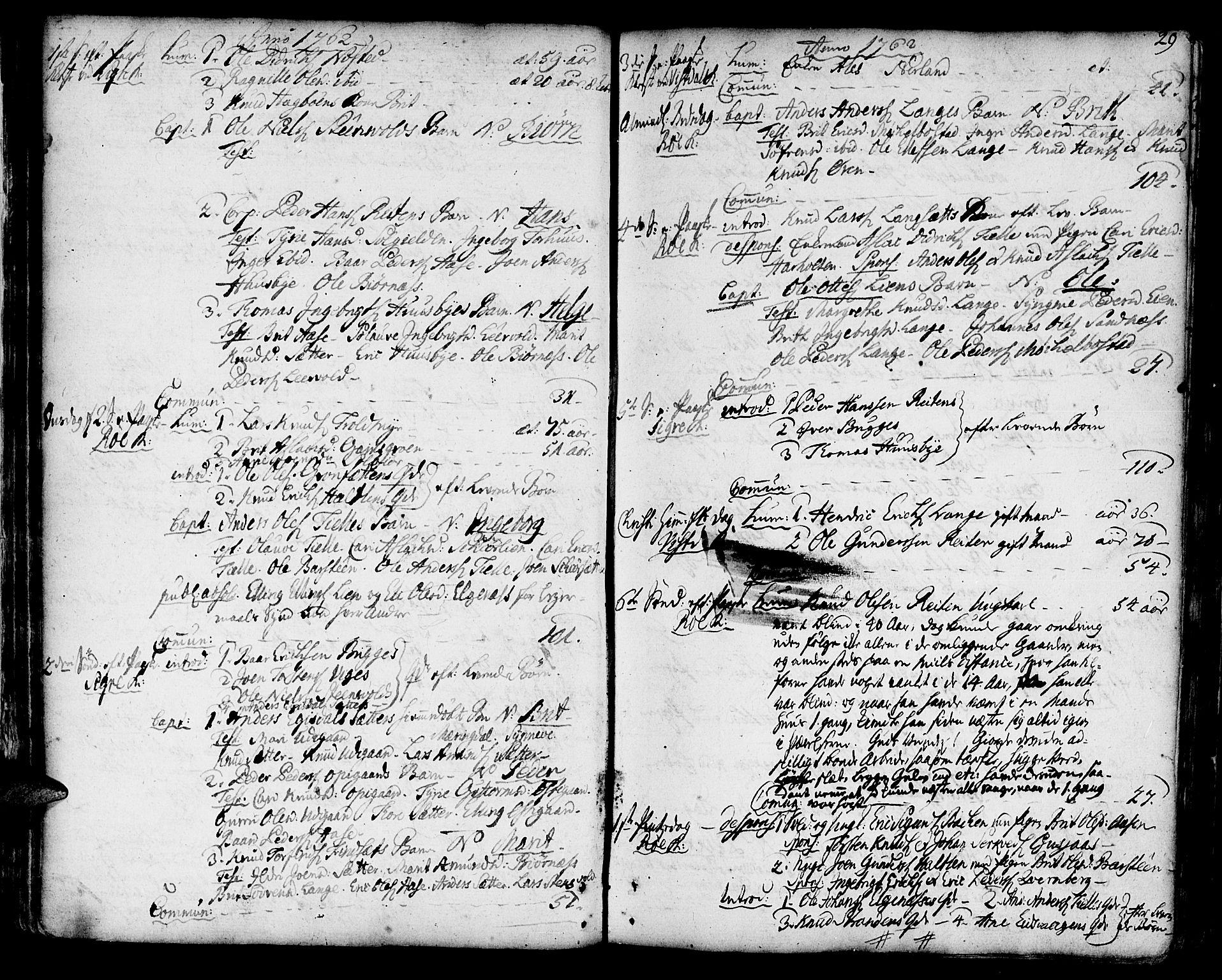 SAT, Ministerialprotokoller, klokkerbøker og fødselsregistre - Møre og Romsdal, 551/L0621: Ministerialbok nr. 551A01, 1757-1803, s. 29