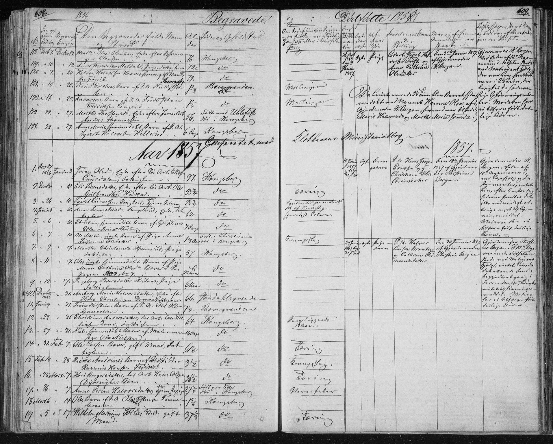 SAKO, Kongsberg kirkebøker, F/Fa/L0009: Ministerialbok nr. I 9, 1839-1858, s. 608-609