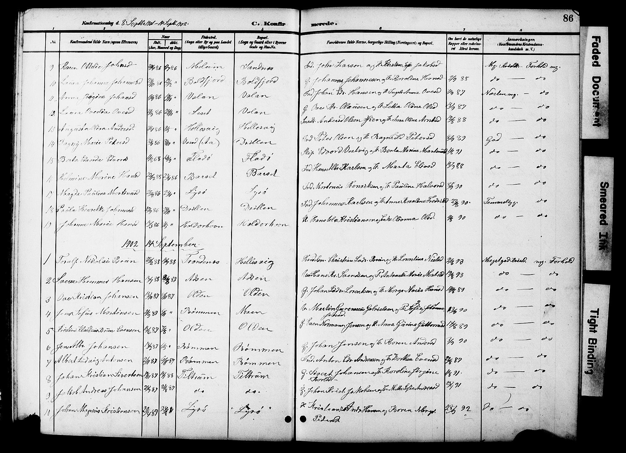 SAT, Ministerialprotokoller, klokkerbøker og fødselsregistre - Sør-Trøndelag, 654/L0666: Klokkerbok nr. 654C02, 1901-1925, s. 86