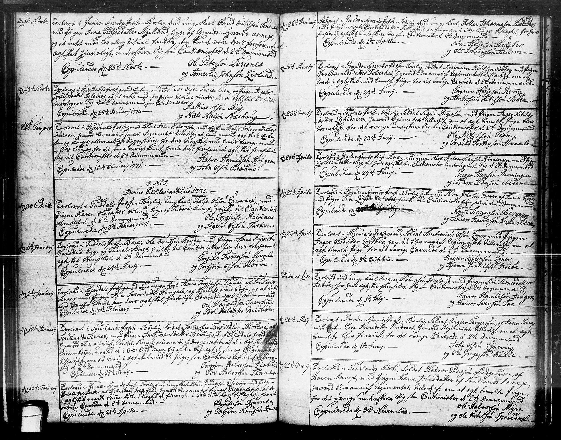 SAKO, Hjartdal kirkebøker, F/Fa/L0004: Ministerialbok nr. I 4, 1727-1795, s. 49