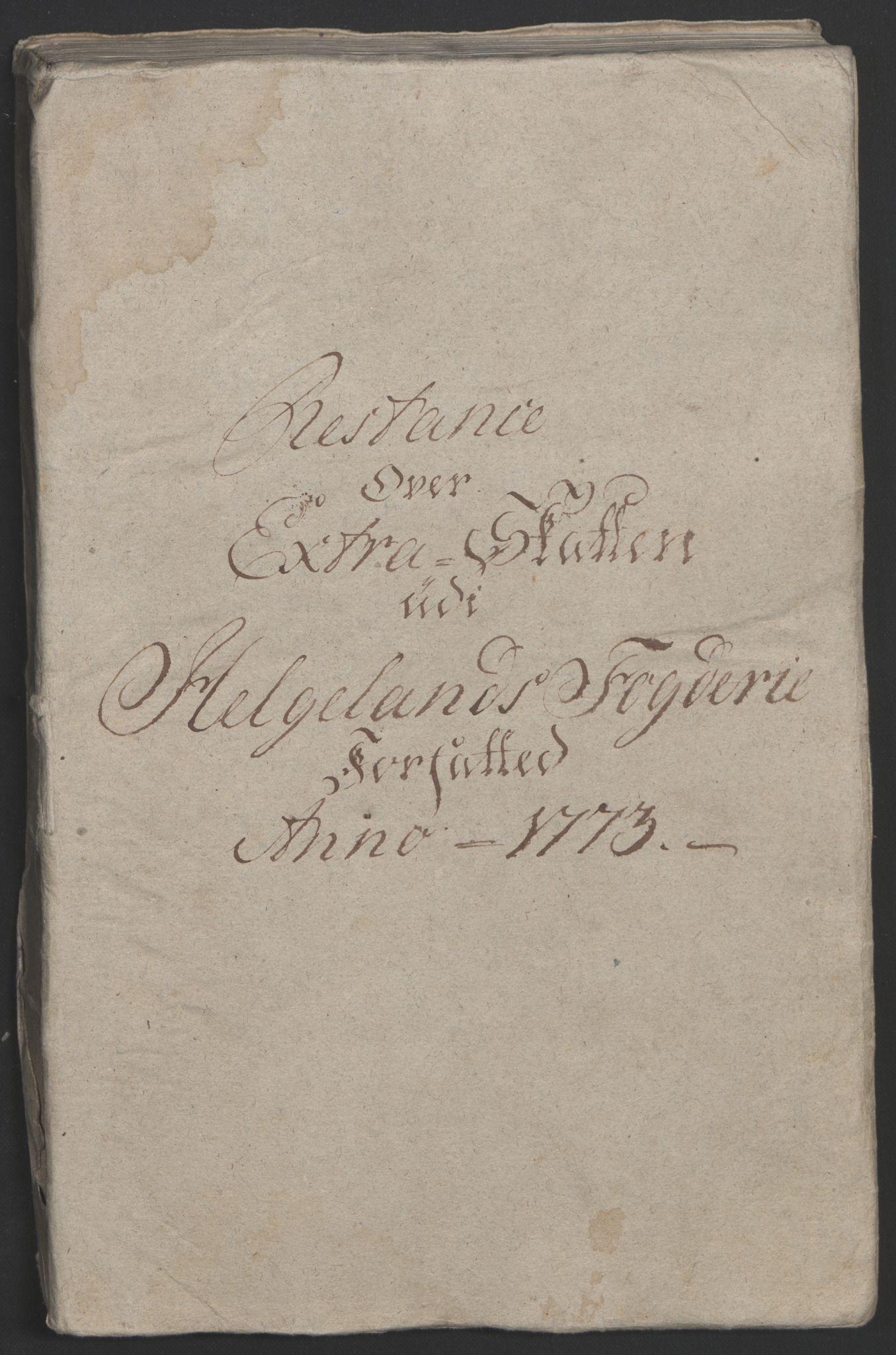 RA, Rentekammeret inntil 1814, Reviderte regnskaper, Fogderegnskap, R65/L4573: Ekstraskatten Helgeland, 1762-1772, s. 442