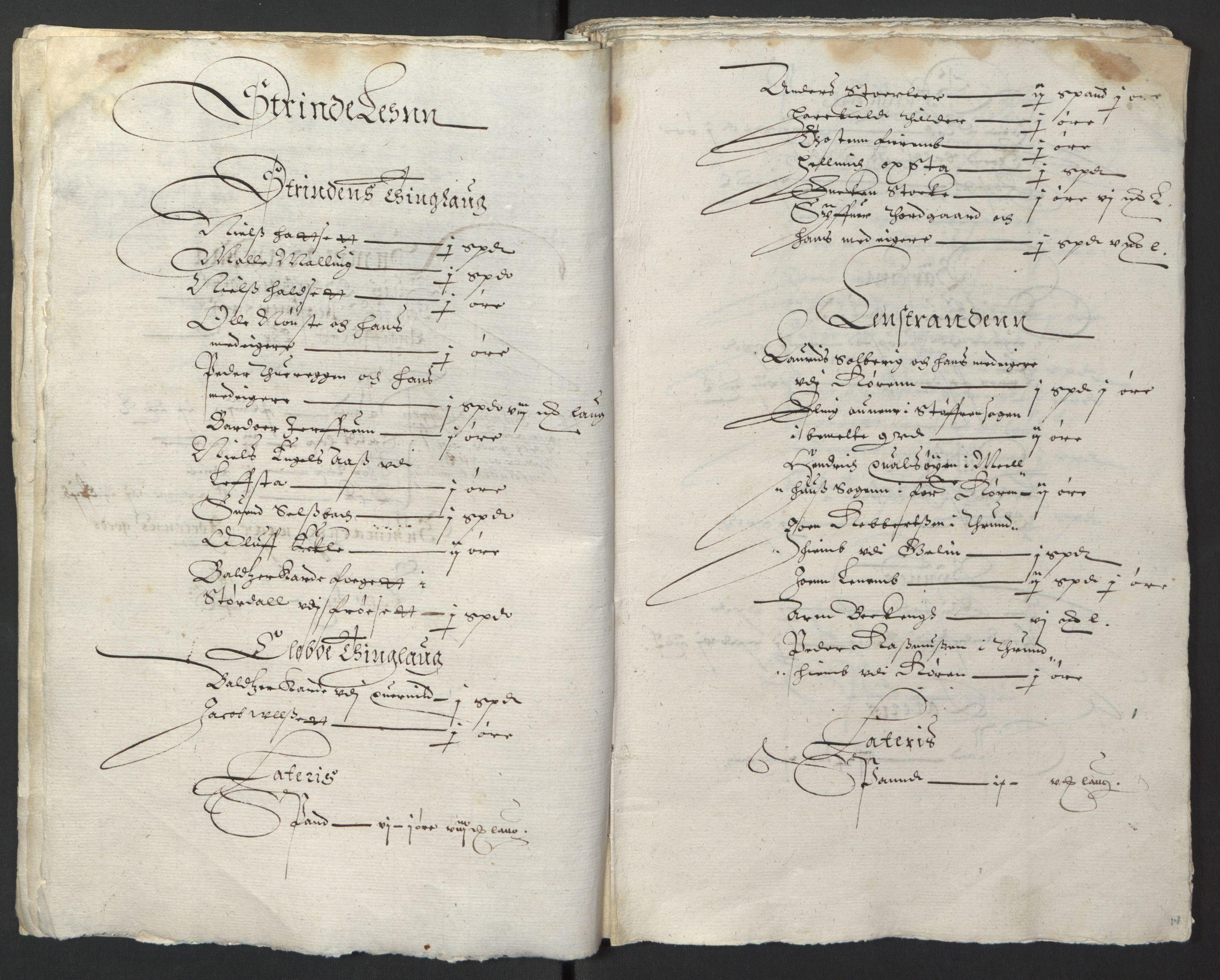 RA, Stattholderembetet 1572-1771, Ek/L0013: Jordebøker til utlikning av rosstjeneste 1624-1626:, 1624-1625, s. 17