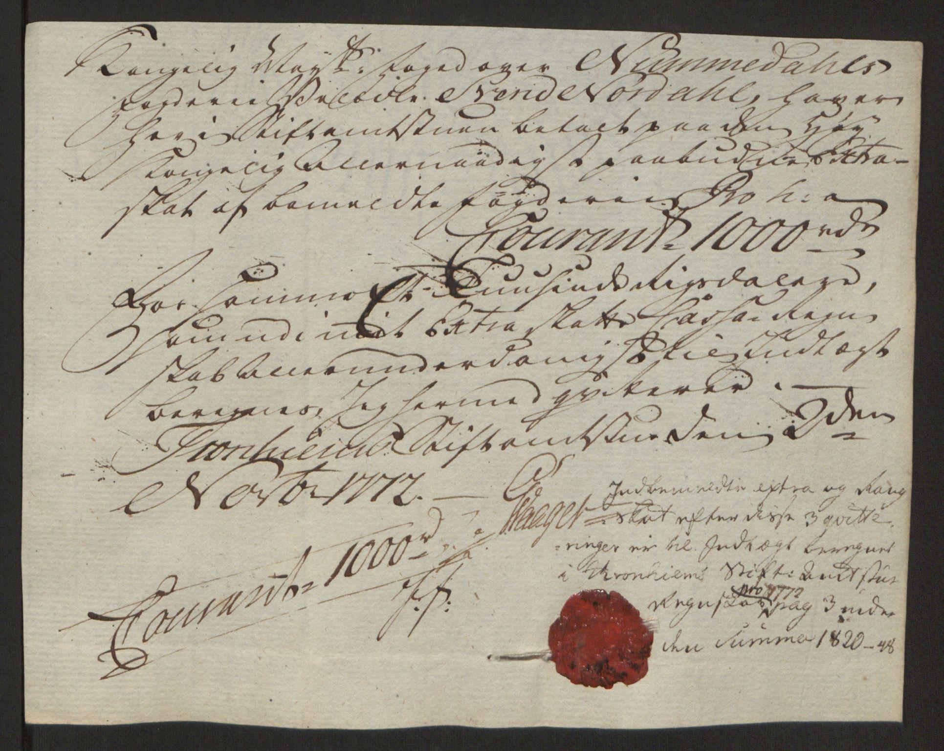 RA, Rentekammeret inntil 1814, Reviderte regnskaper, Fogderegnskap, R64/L4502: Ekstraskatten Namdal, 1762-1772, s. 442