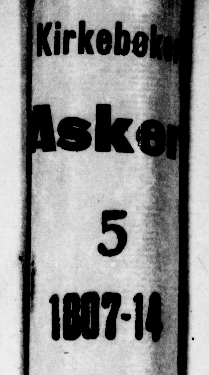 SAO, Asker prestekontor Kirkebøker, F/Fa/L0005: Ministerialbok nr. I 5, 1807-1813