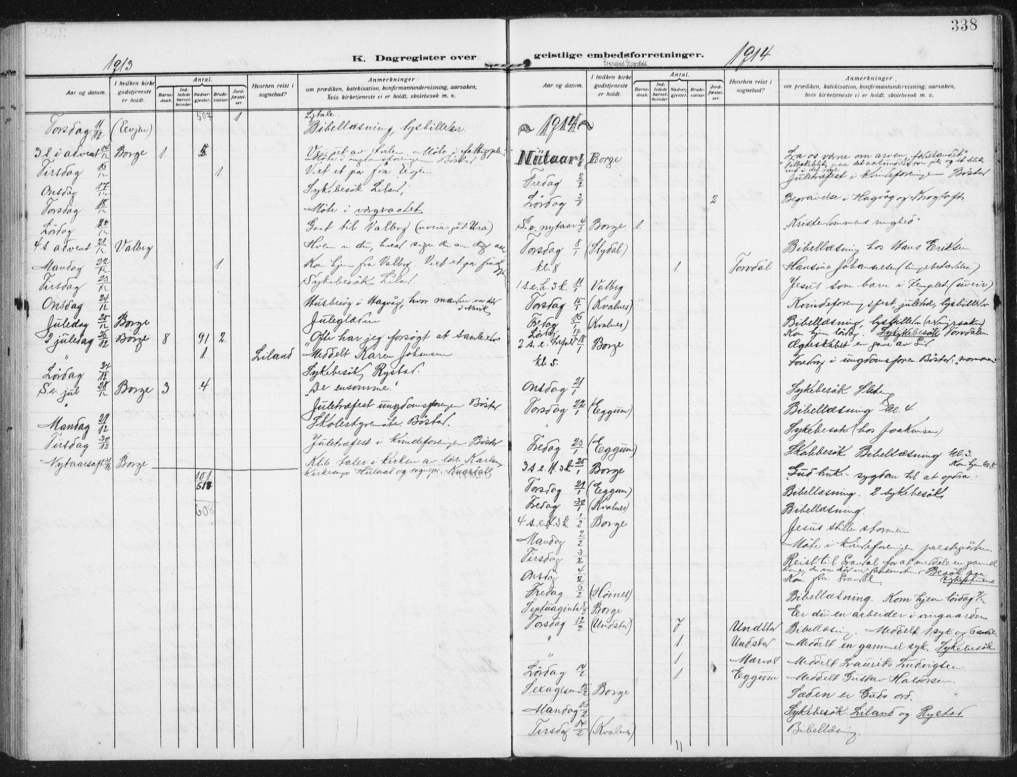 SAT, Ministerialprotokoller, klokkerbøker og fødselsregistre - Nordland, 880/L1135: Ministerialbok nr. 880A09, 1908-1919, s. 338