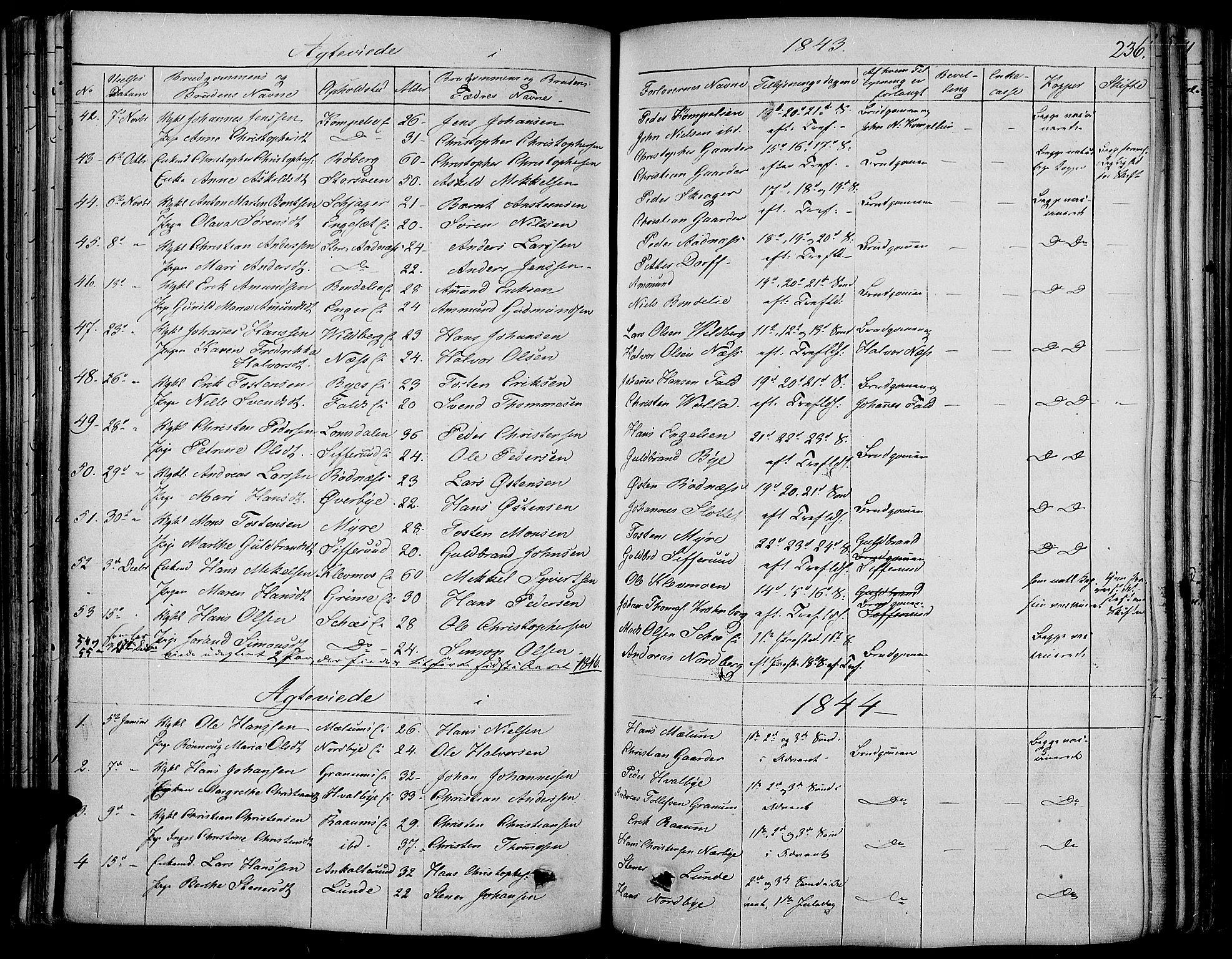 SAH, Land prestekontor, Ministerialbok nr. 8, 1830-1846, s. 236