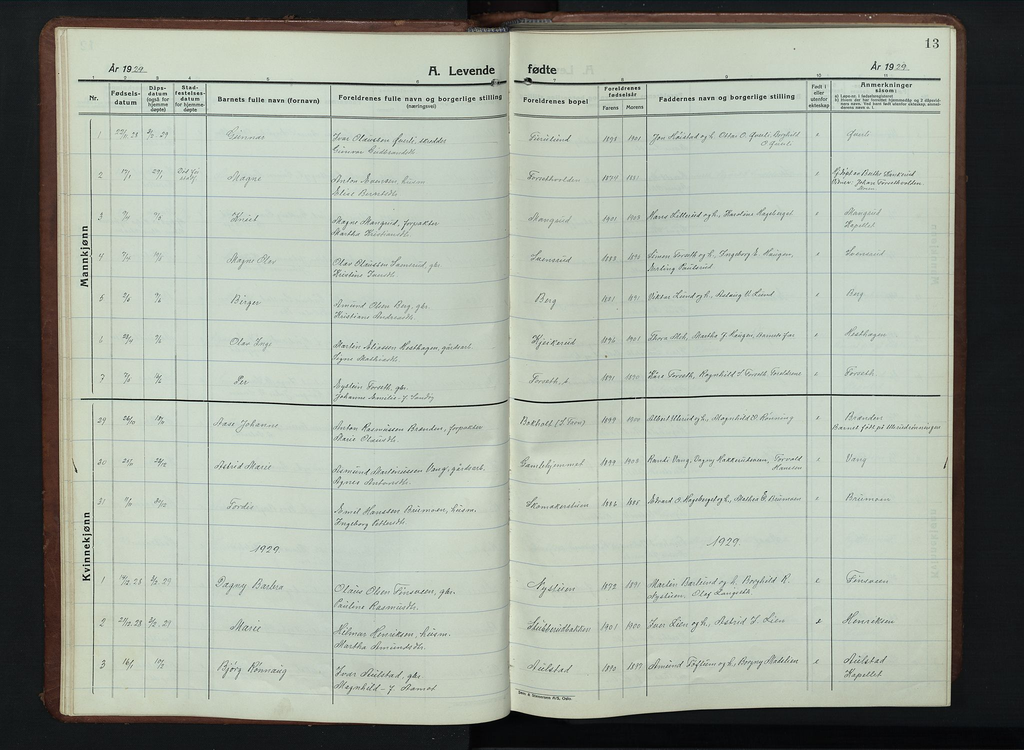 SAH, Vestre Gausdal prestekontor, Klokkerbok nr. 5, 1926-1955, s. 13